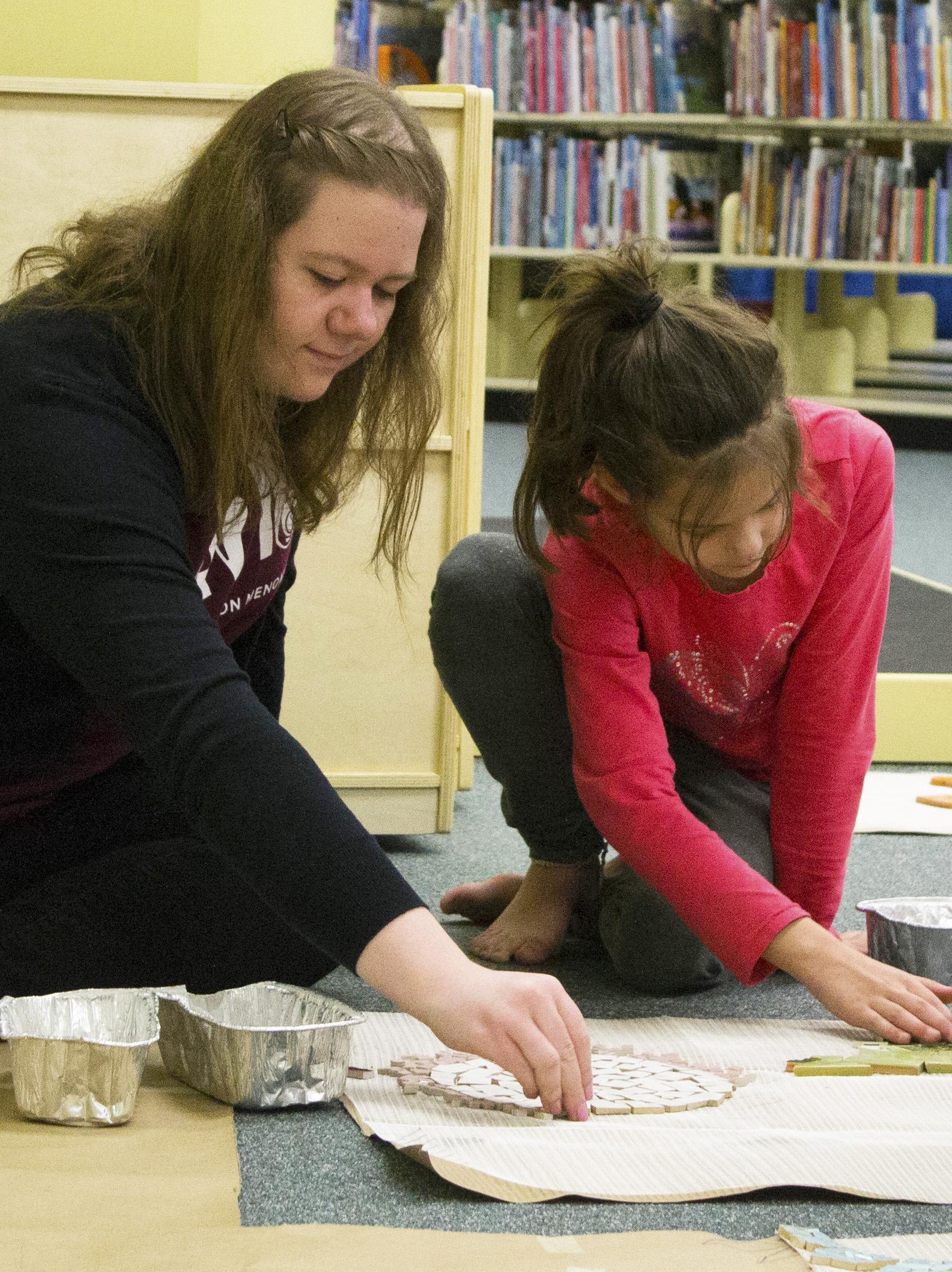 Nicole Seidler  UW-Stout Art Education INTERNSHIP: Mosaic Mural Installation LOCATION: UW-Stout Library