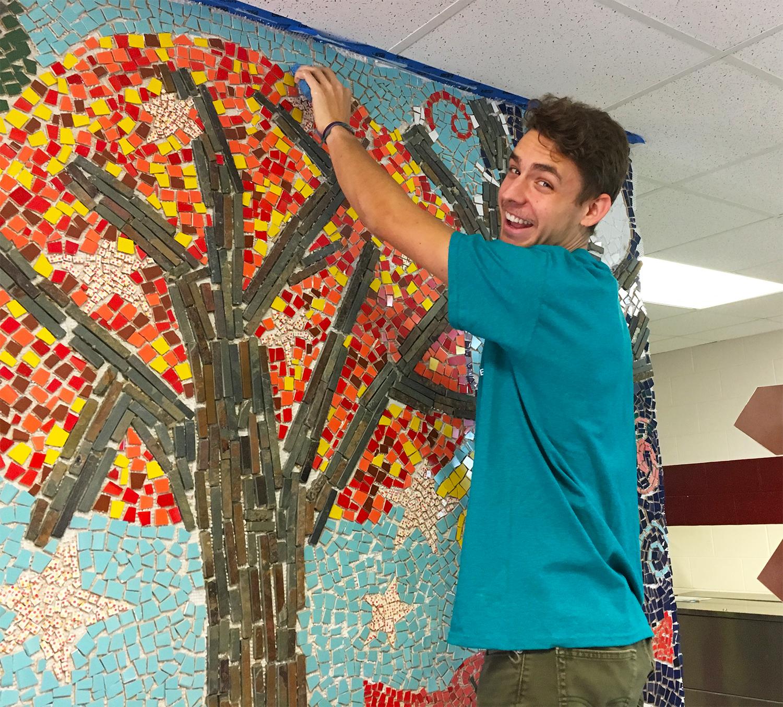 Marko Pechnik  UW-Stout Art Education INTERNSHIPS: 1) Mosaic Mural Installation, Knapp Elementary  2) Mosaic Sundays, UW-Stout Library