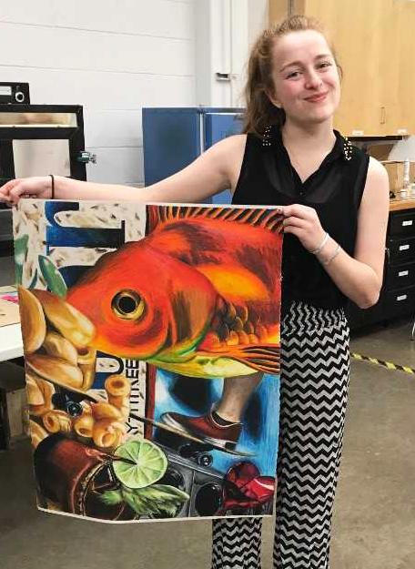HANA BUTTLES , UW-STOUT ART EDUCATION INTERNSHIP: Expressive Arts classes, Dunn County Jail
