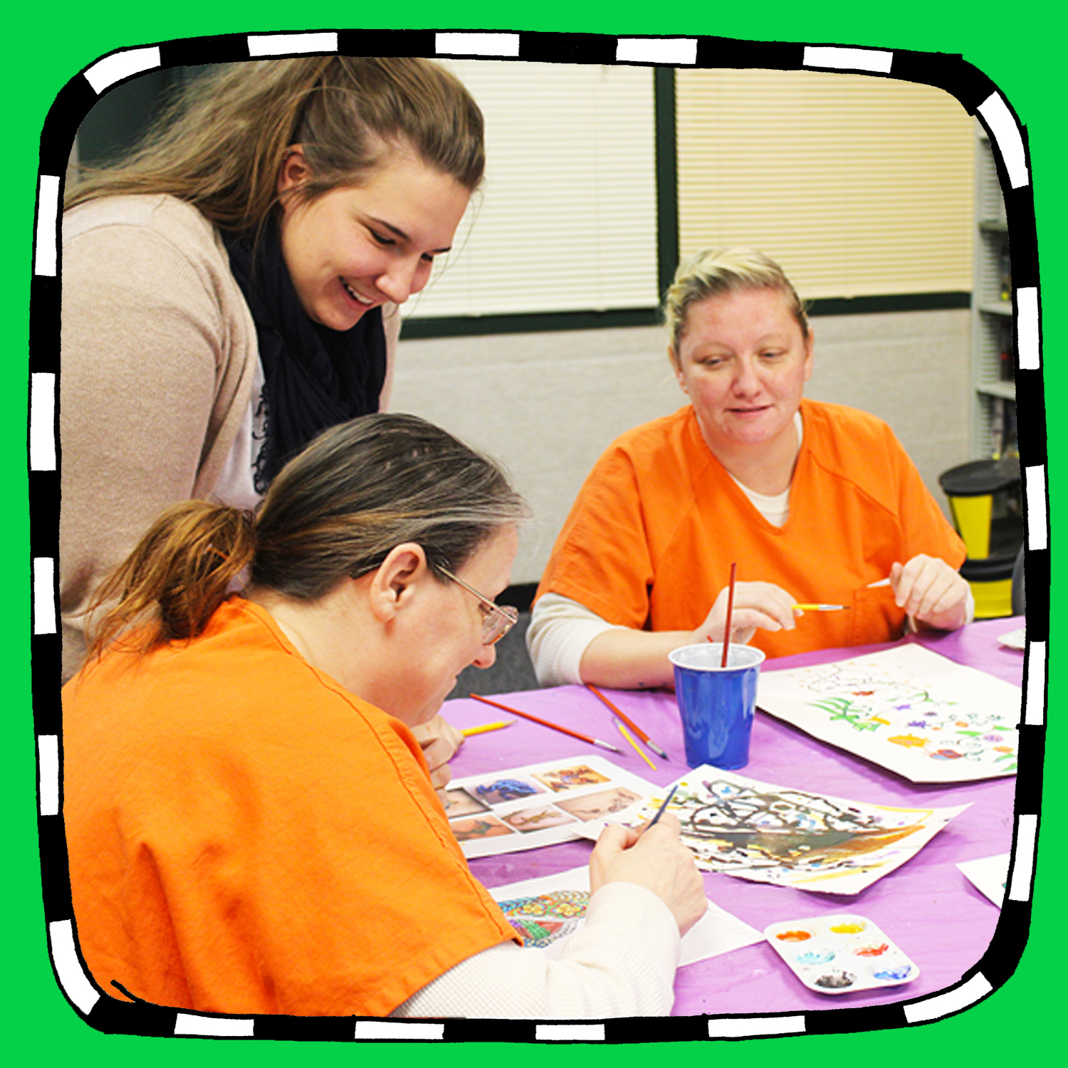 ART EXPLORATIONFOR ADULT INMATES (Partnered Internship) - Location: Dunn County Jail (2.6 miles from Stout - vehicle needed)90-minute classes that meet twice per week (flexible days/times)Estimated class size: 8-10Plan and lead art lessons to inmates. Inmates will explore drawing and/or watercolor media to gain skills, express themselves, and allow for personal growth. Paid planning time included.