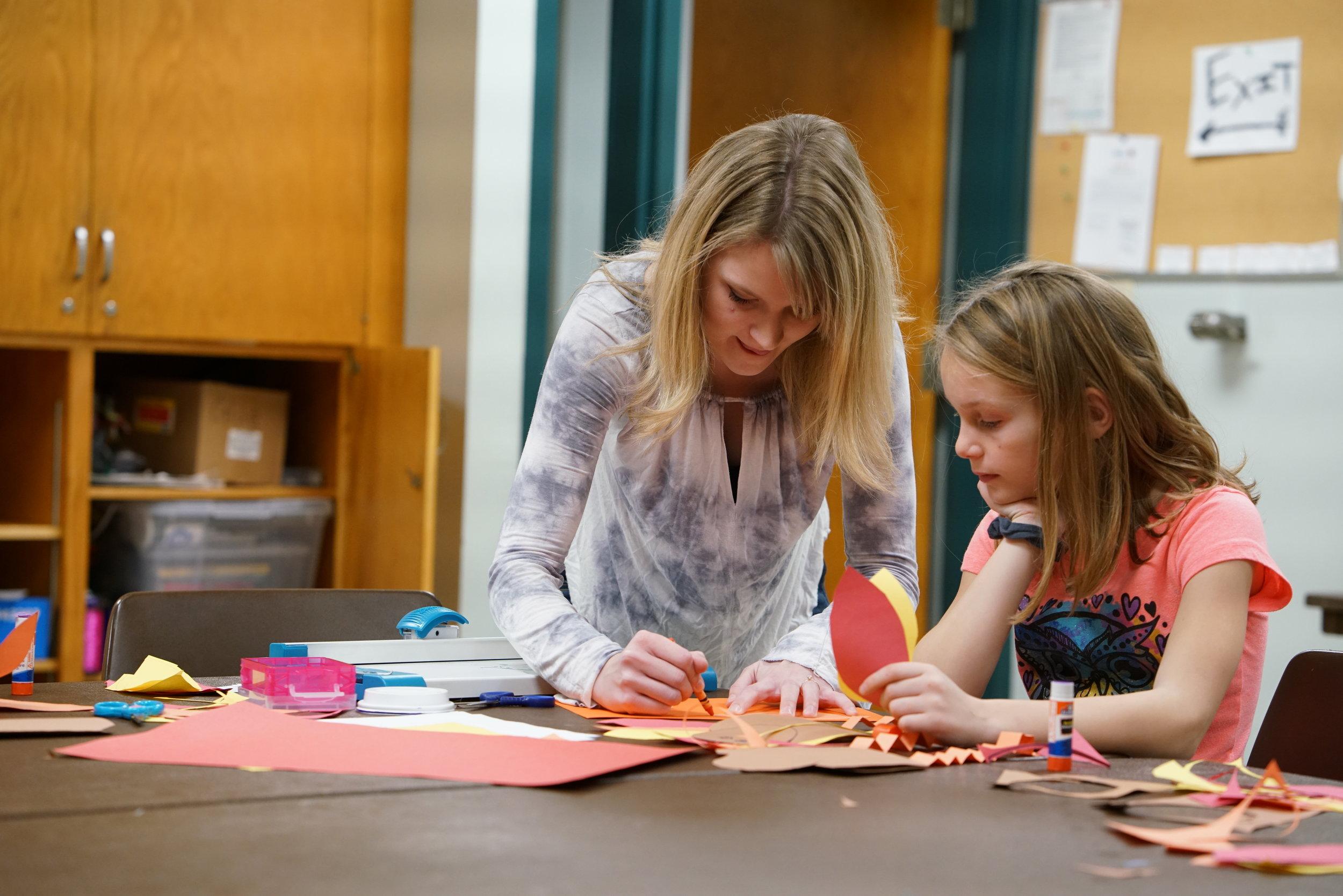 MARISSA PILNEY , UW-STOUT EARLY CHILDHOOD EDUCATION INTERNSHIP: Jumpstart Afterschool Program (K-5 Art Classes), Menomonie Parks and Recreation Department