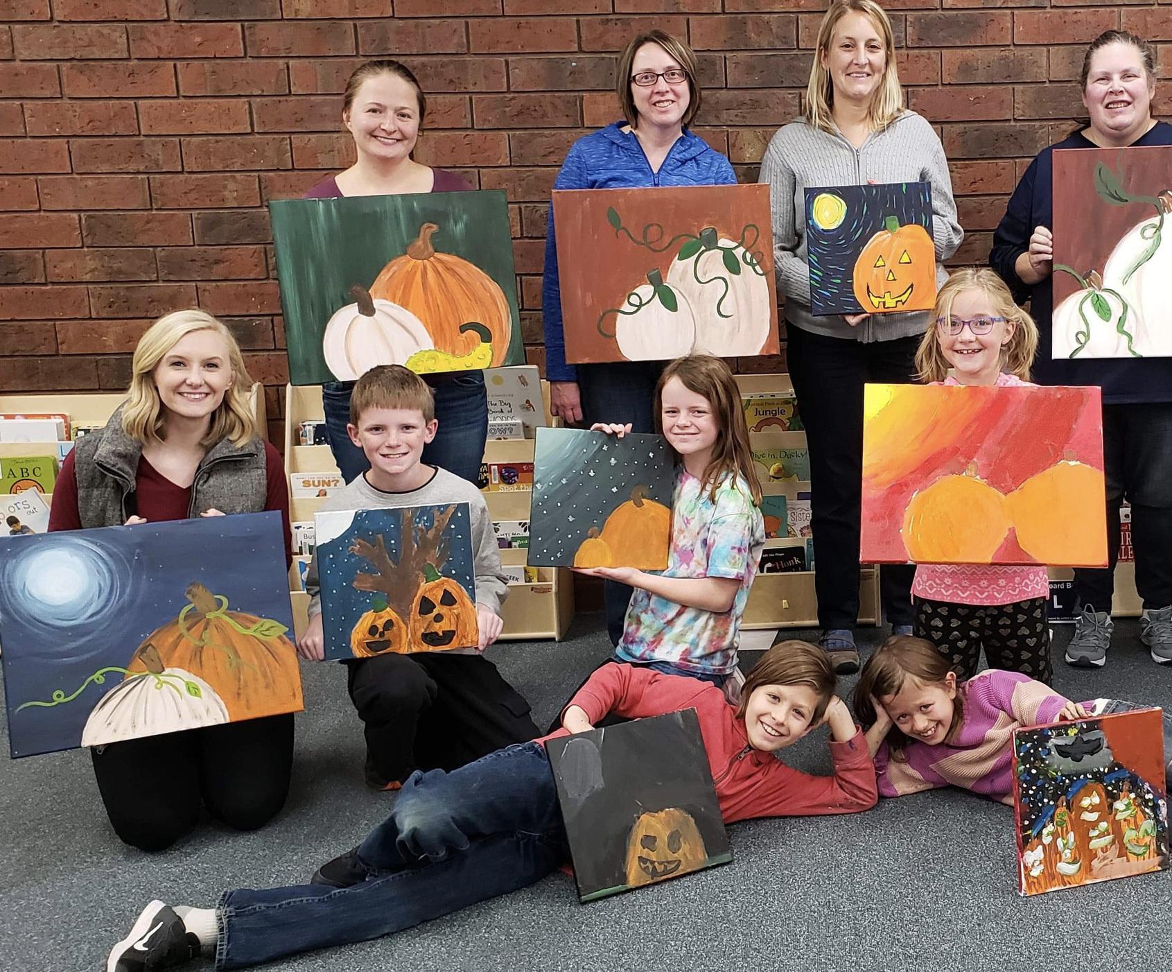 AUTUMN STILLER , UW-STOUT ART EDUCATION INTERNSHIPS: Canvas Creations - Family painting classes, UW-Stout Library and NAEA painting classes, UW-Stout library