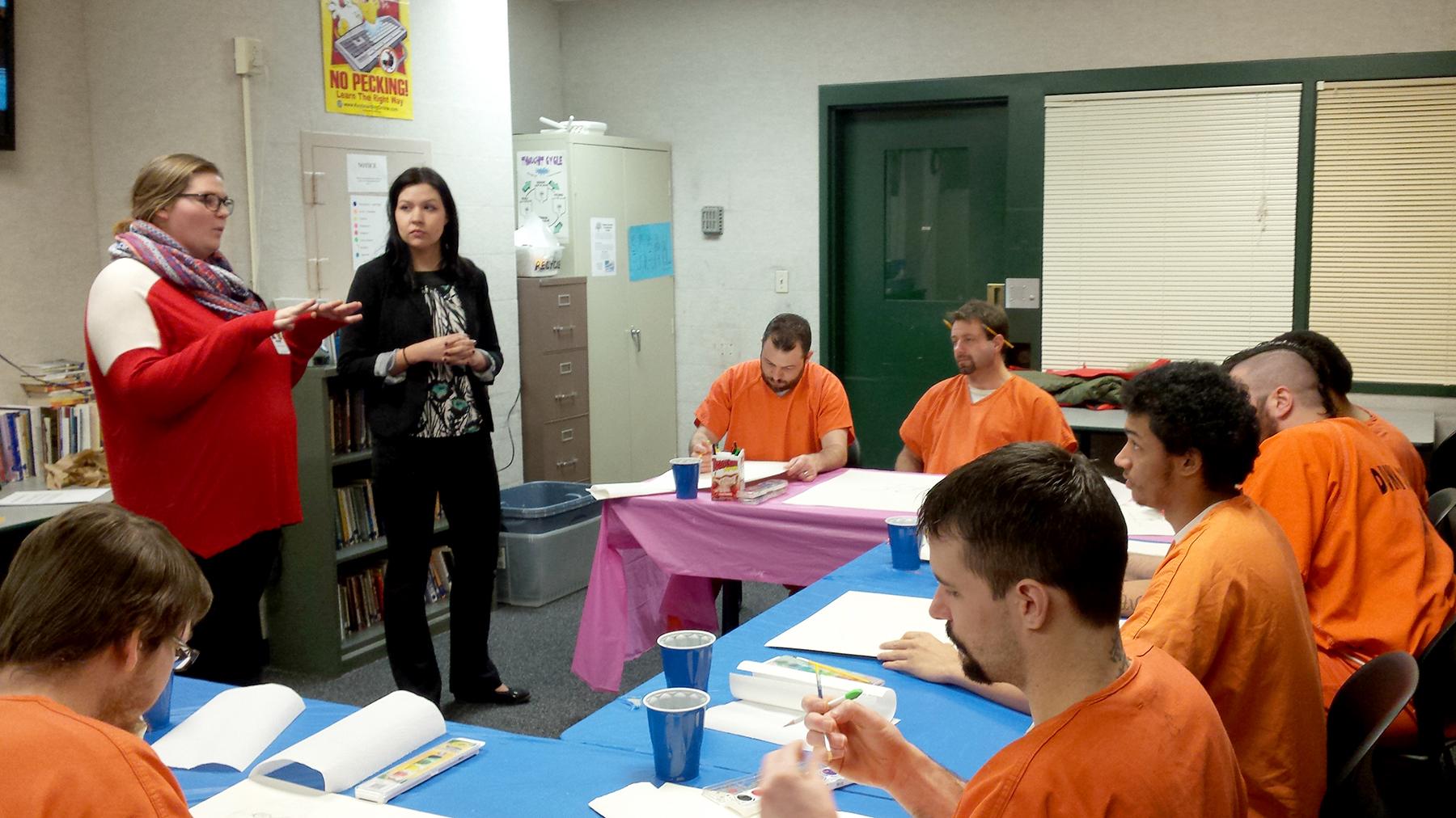 Sierra Thomfohrda  UW-Stout Art Education INTERNSHIP: Art Therapy, Dunn County Jail