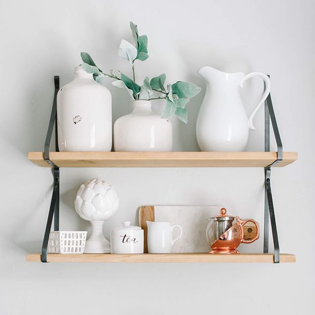 """Love styling this little corner of mine! Anyone else find creating the perfect """"shelfie"""" both challenging and rewarding at the same time?"""