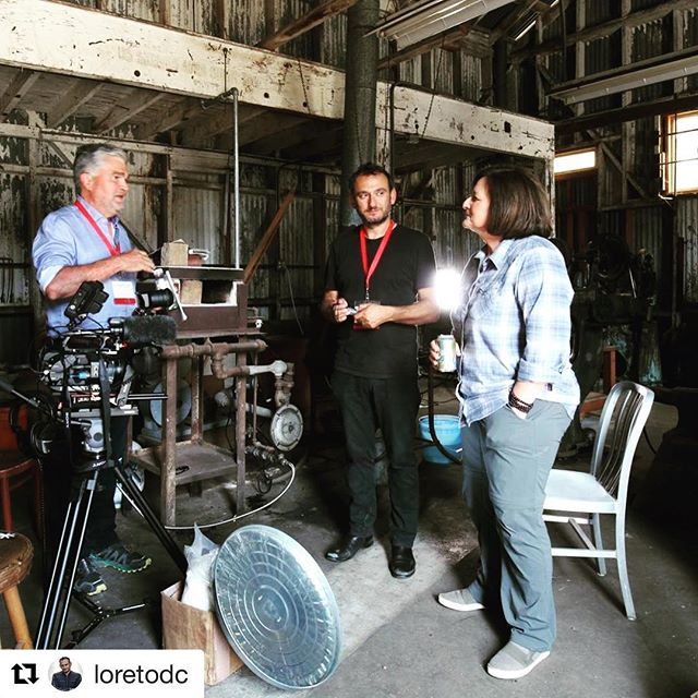 "#Repost @loretodc with @get_repost ・・・ I'm so proud to be the #director on this film project! Stay tuned as there is more to come!!!! Interviewing #RoseMarcario, #Patagonia CEO in the historical ""Tin shed"" where Patagonia Founder #YvonChouinard started his company making pitons for mountain climbing several decades ago! The company has come a long way to become a leader amongst #BCorp certified US companies concerned about sustainability, climate change, and the RegenerativeOrganic food movement."