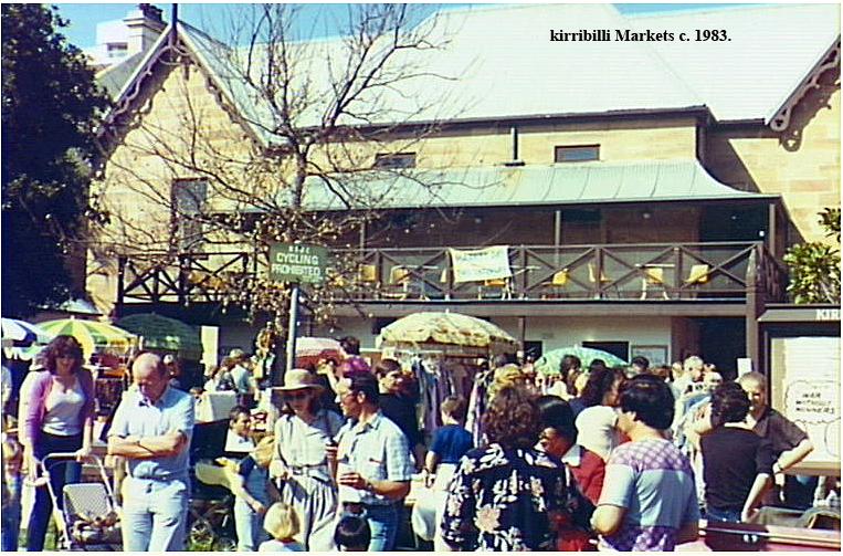 An early Market in the back courtyard of the Kirribilli Neighbourhood Centre, c.1983