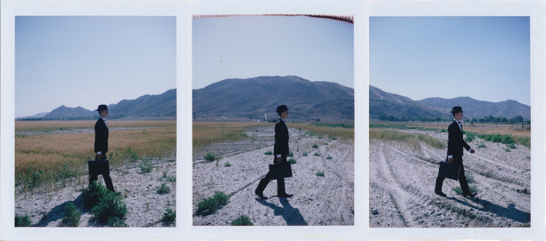 Triptych   2011  3x Fuji fp-100c diffusion transfer print