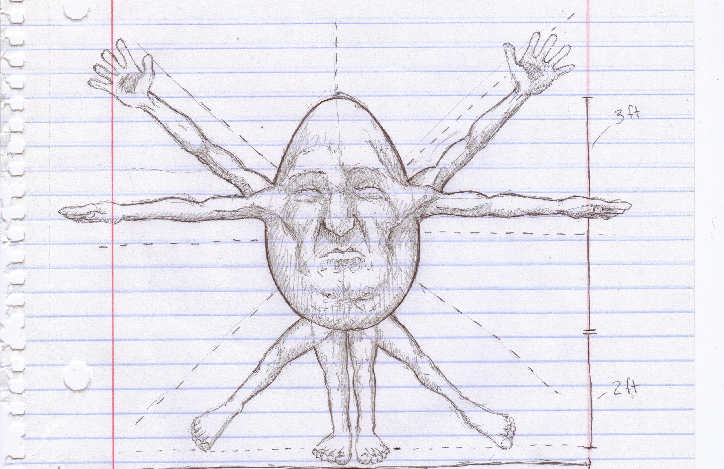 Study of Ovo Sapien   2010  Ballpoint Pen on Paper  5.5x8.5