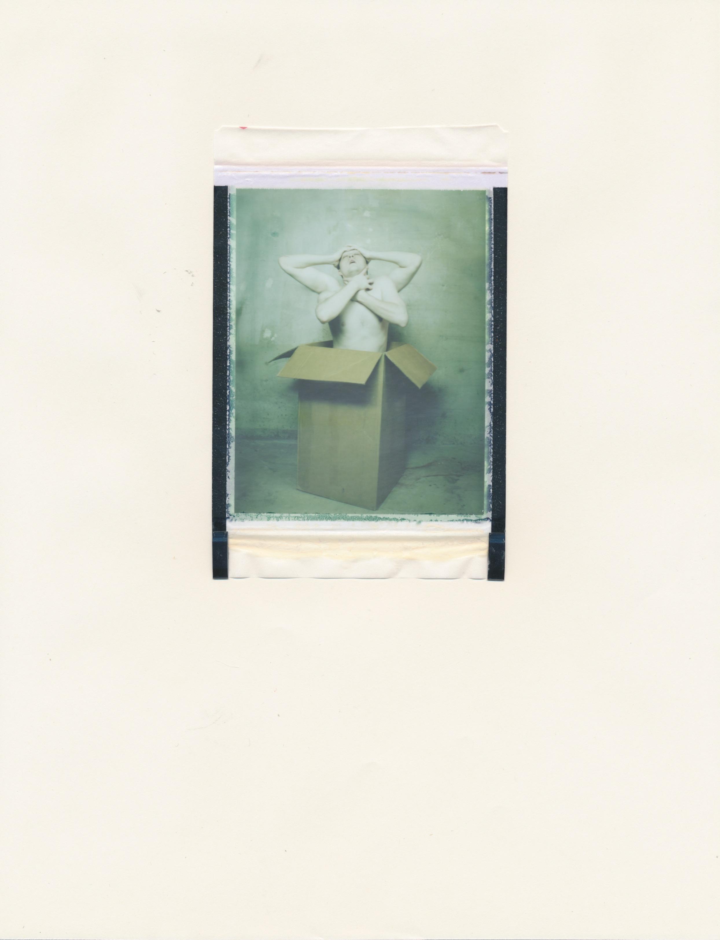 Human Obscura #10(Figure in Box 3)   2015  Diffusion Transfer Print on Paper  8.5x11