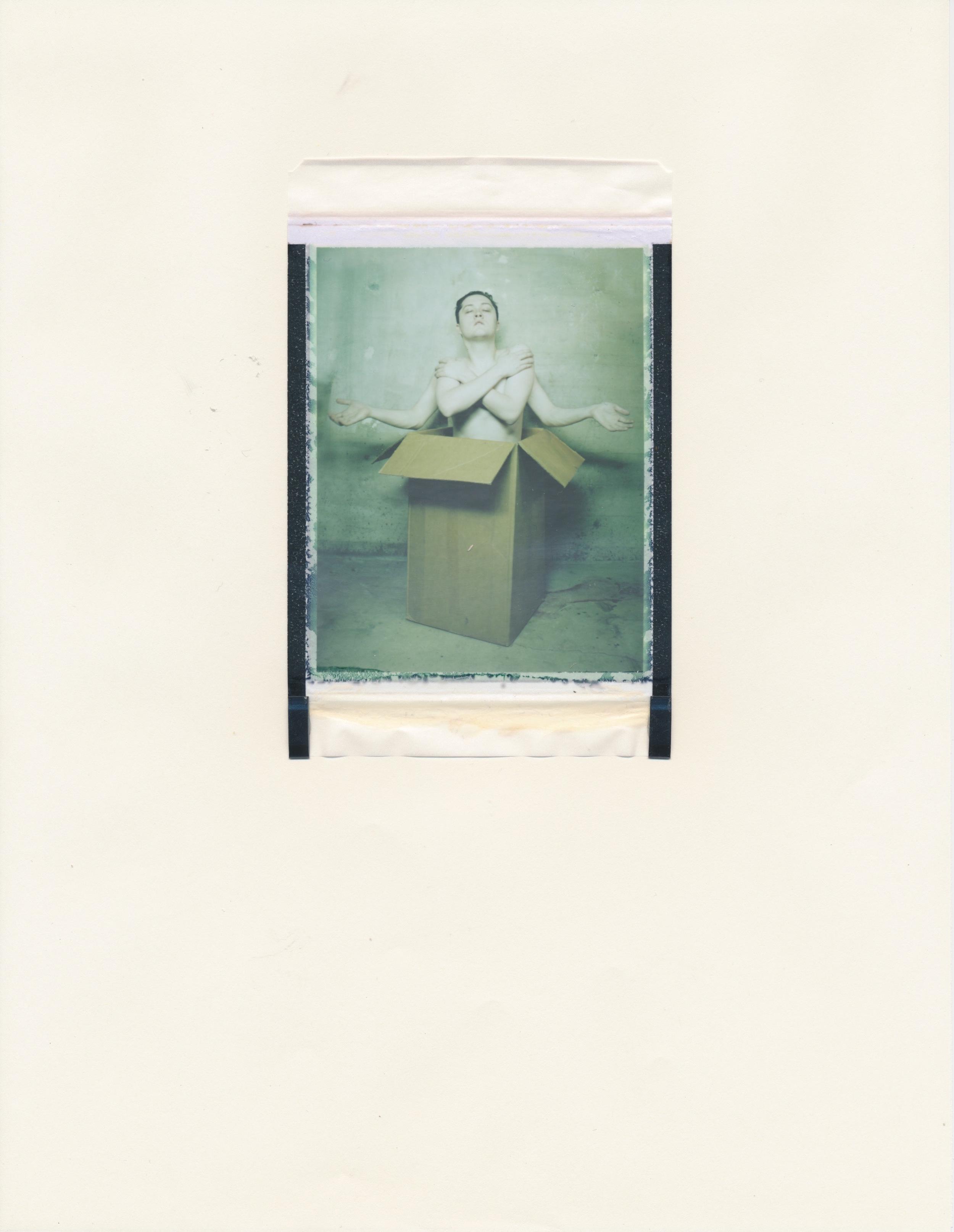 Human Obscura #8 (Figure in Box 1)   2015  Diffusion Transfer Print on Paper  8.5x11
