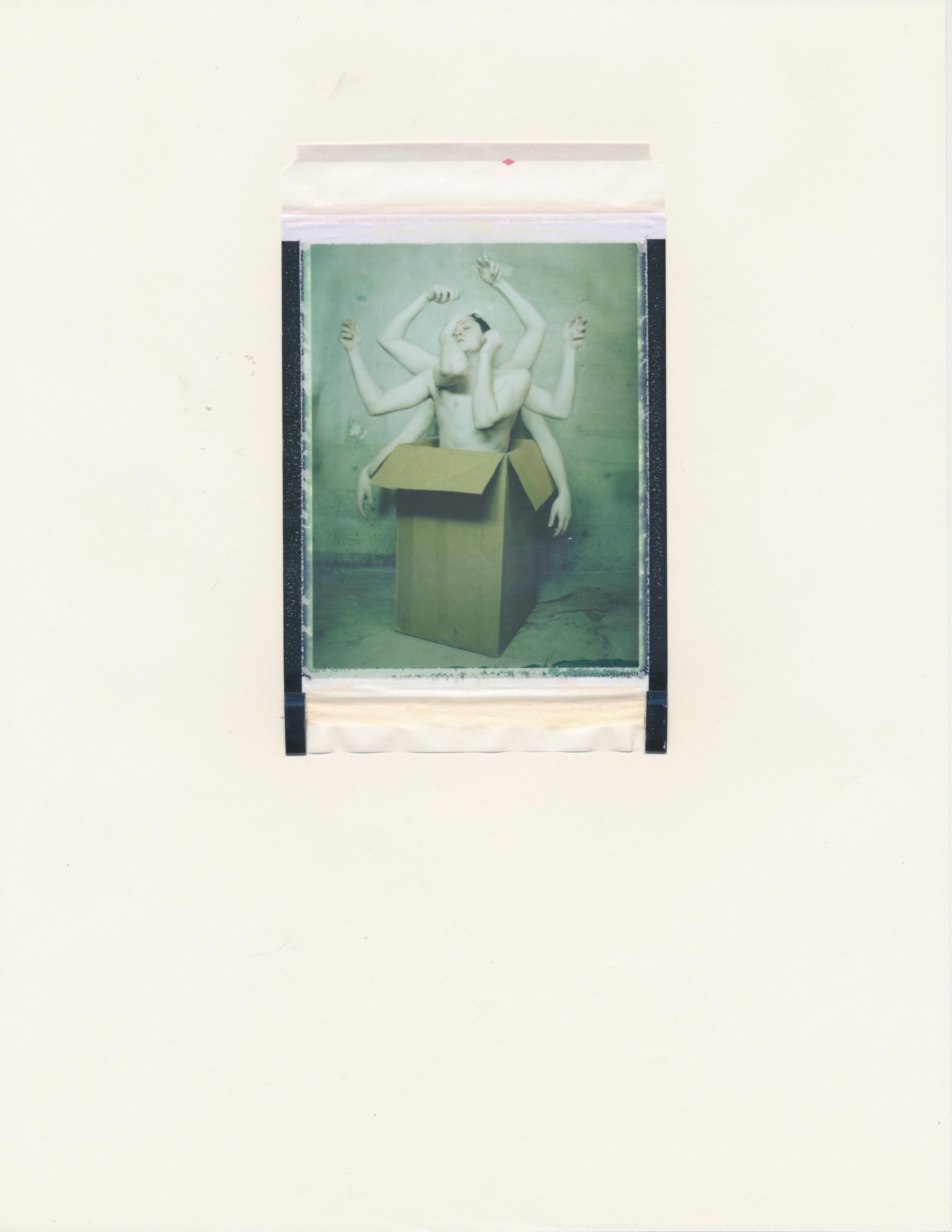 Human Obscura #9(Figure in Box 2)   2015  Diffusion Transfer Print on Paper  8.5x11