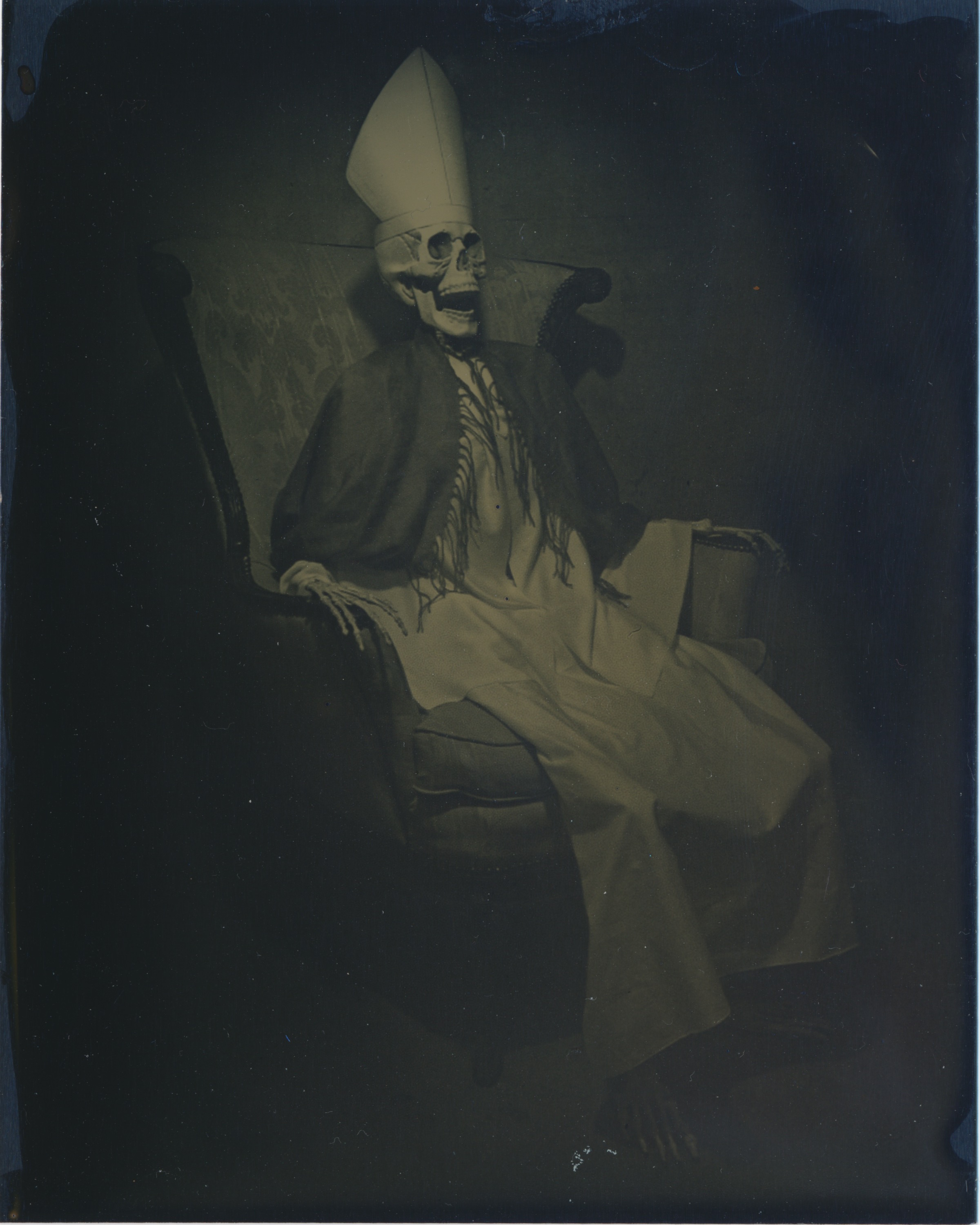After Pope Innocent X   2015  Tintype  4x5