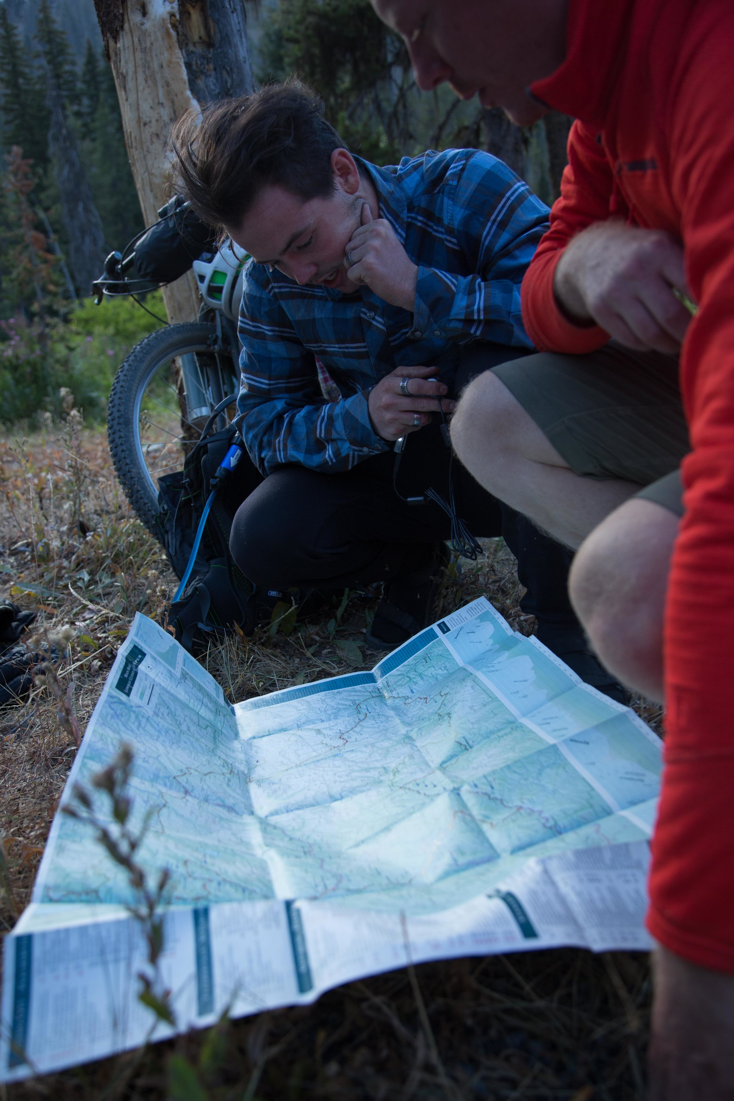 discussing map options   photo by james
