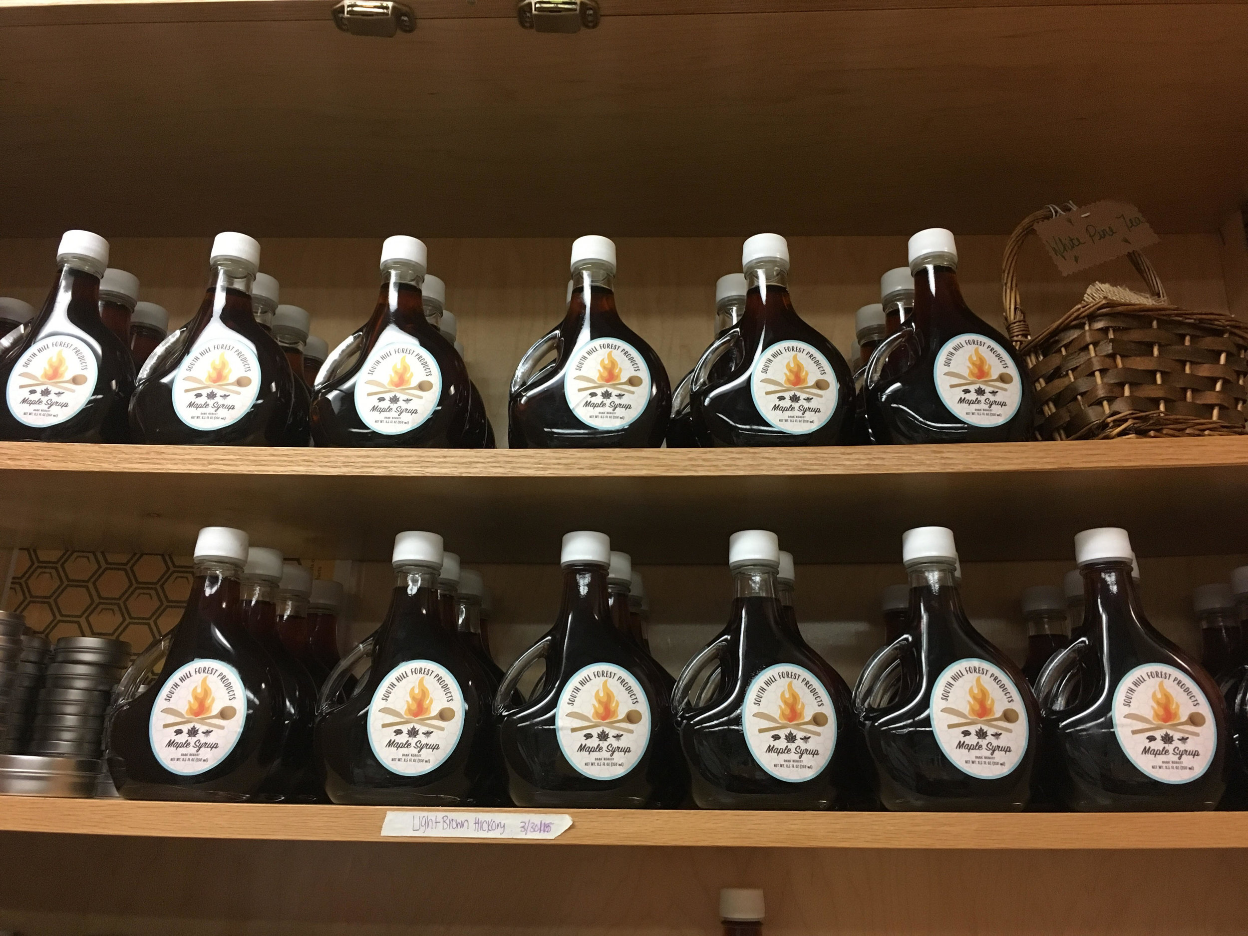 Just a small sampling of all the syrup we've been able to produce this year!