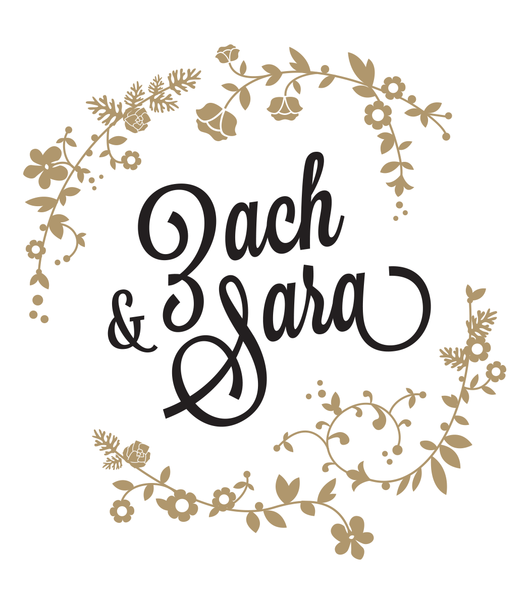 Z + S wedding rsvp logo design