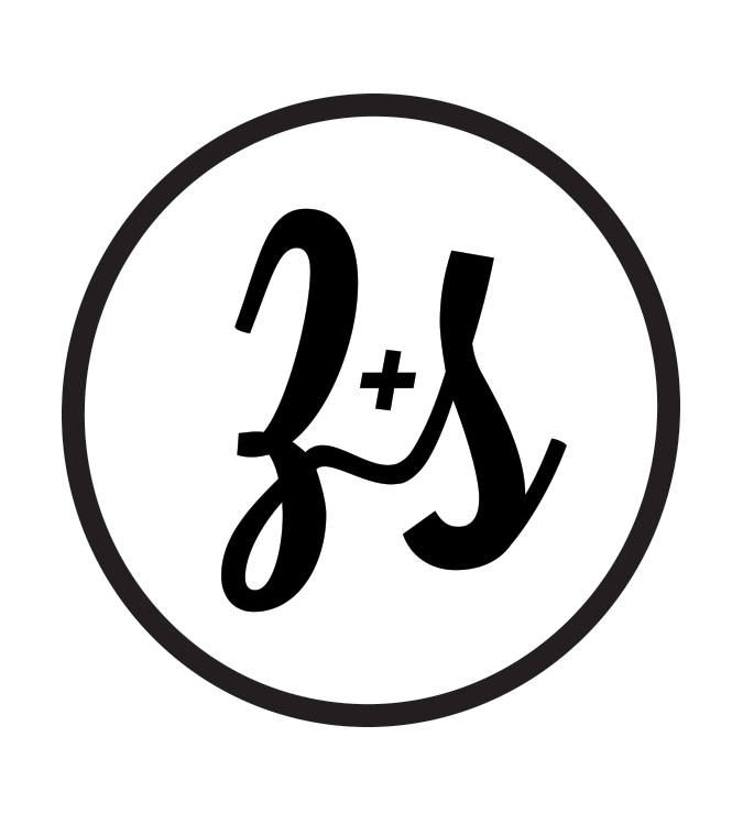 Z + S wedding logo design