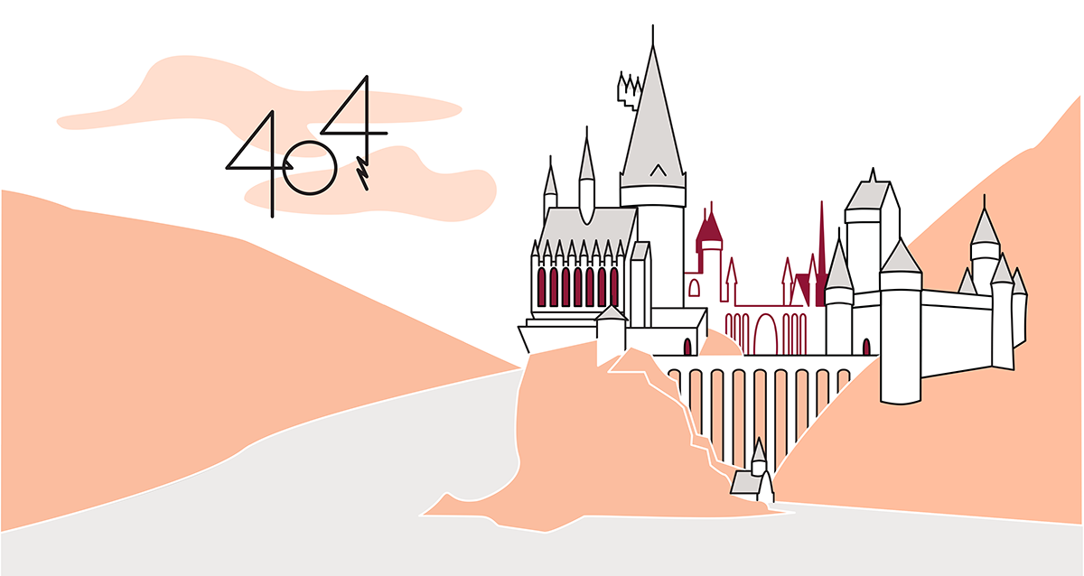 Harry Potter 404 page design