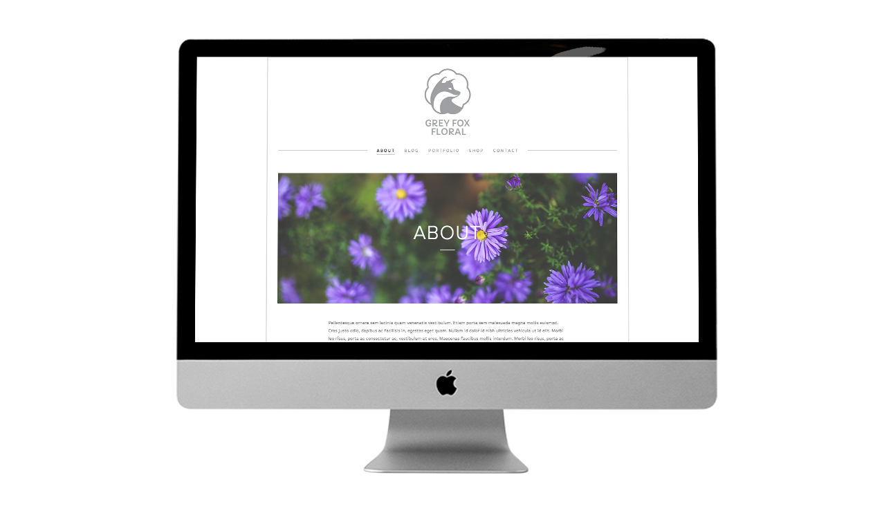 Grey Fox Floral Website Design