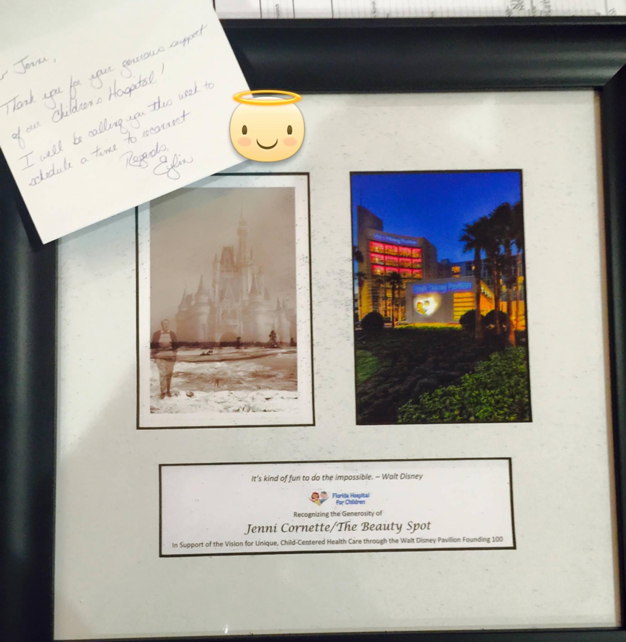 Philanthropy work to Florida Children's Hospital - Jenni Cornette - Founding 100.