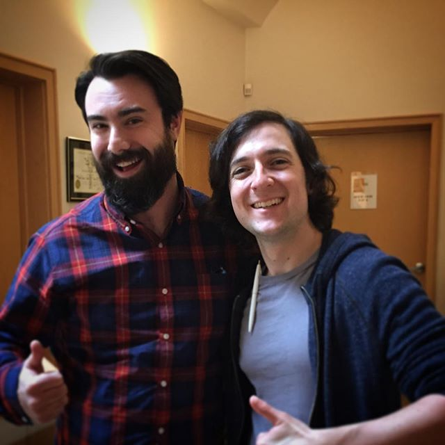 Just me and Josh Brenner from @siliconhbo recording some scratch at work today for @nickanimation