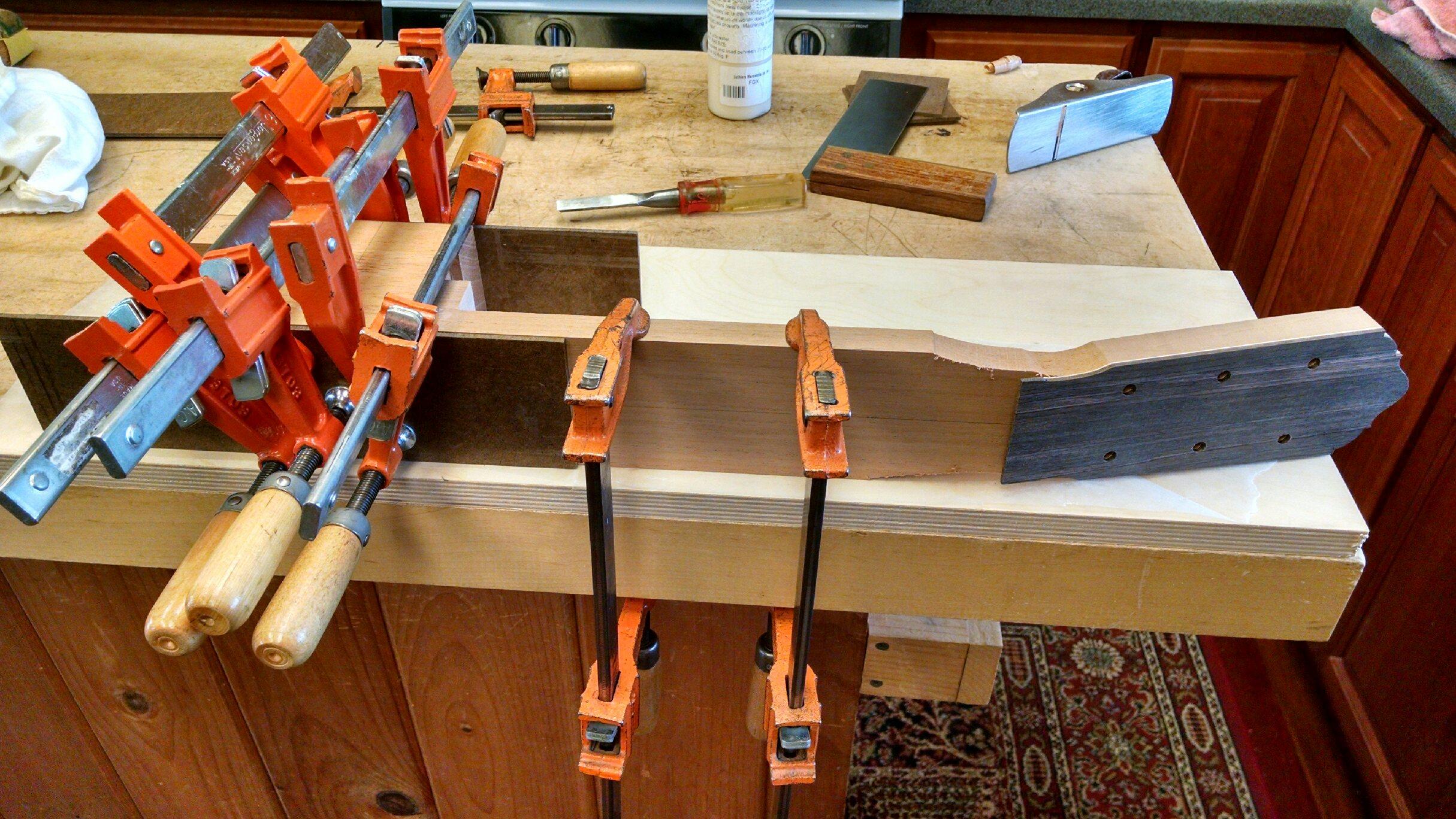 Heel block glue up.
