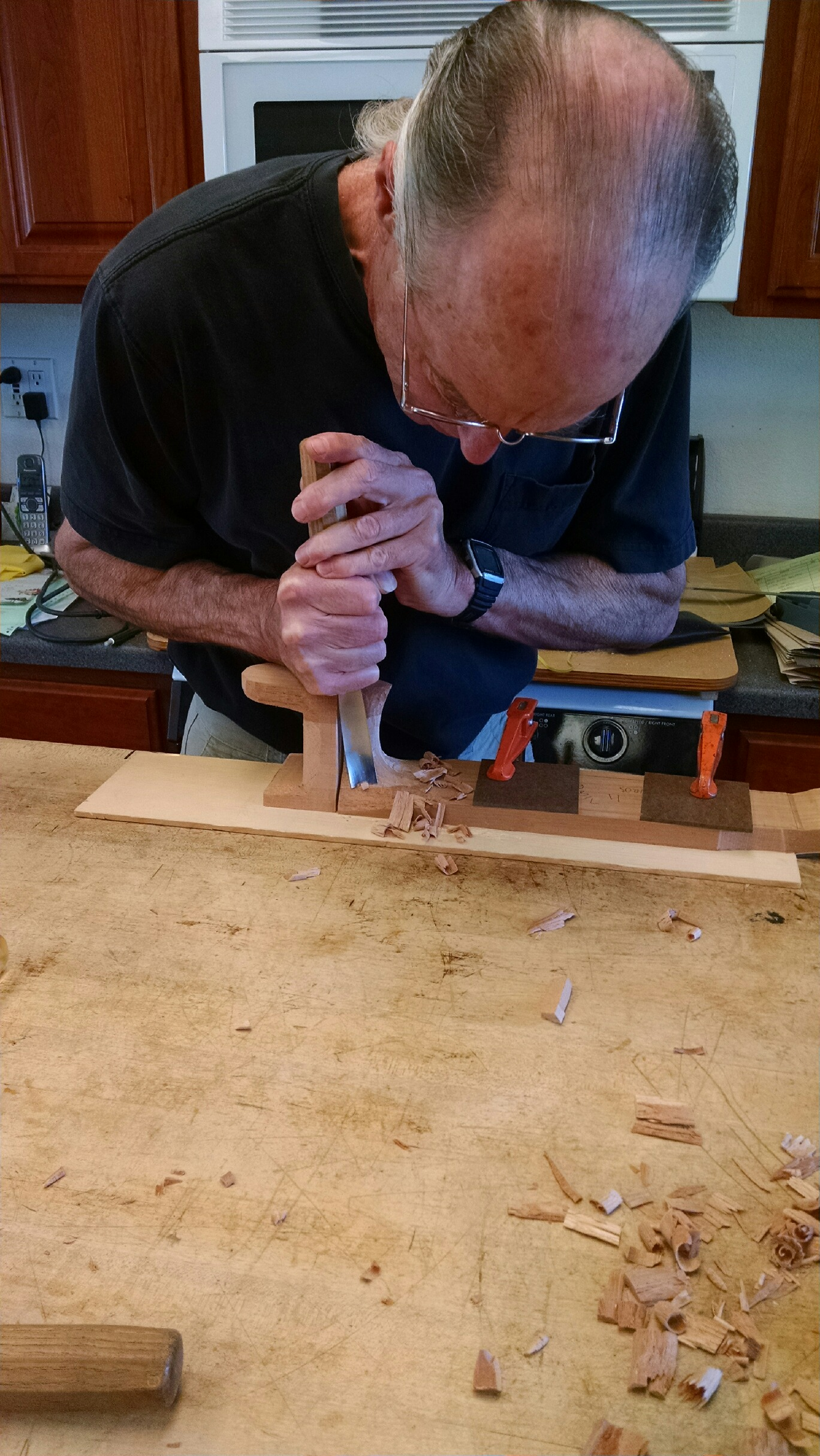 Carving the heel