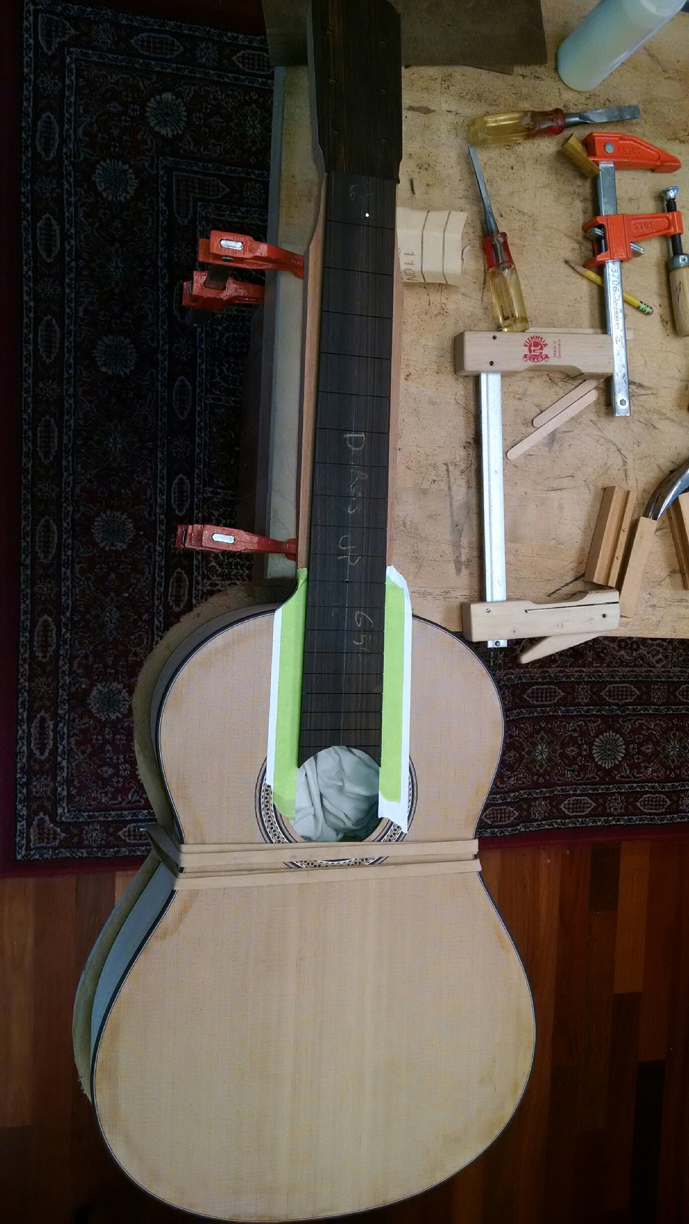 Fingerboard ready to glue.
