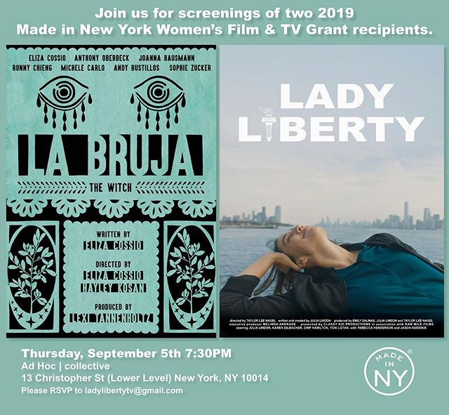 New York! Join us on 9/5 for a special screening of LADY LIBERTY & LA BRUJA @adhoccollective ~ RSVP to ladylibertytv@gmail.com