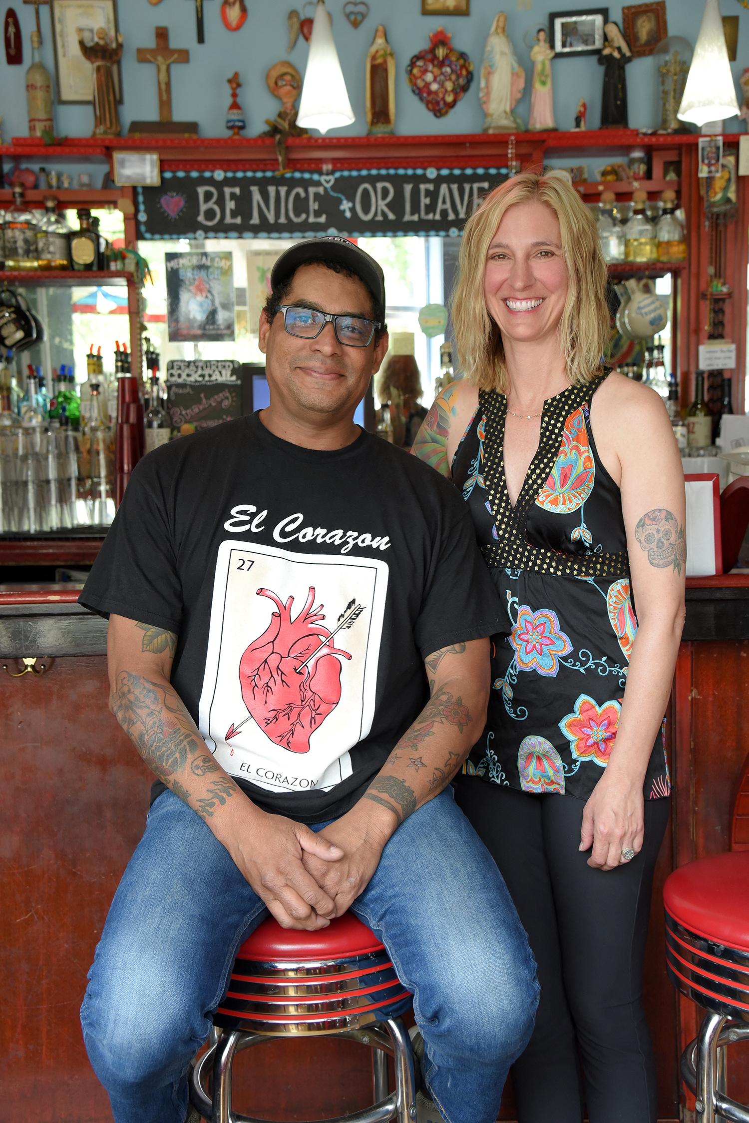 George Mireles (Owner, Cafe Corazon), Wendy Mireles (Owner, Cafe Corazon) - Photo By Katy Rowe (Artist Group).JPG
