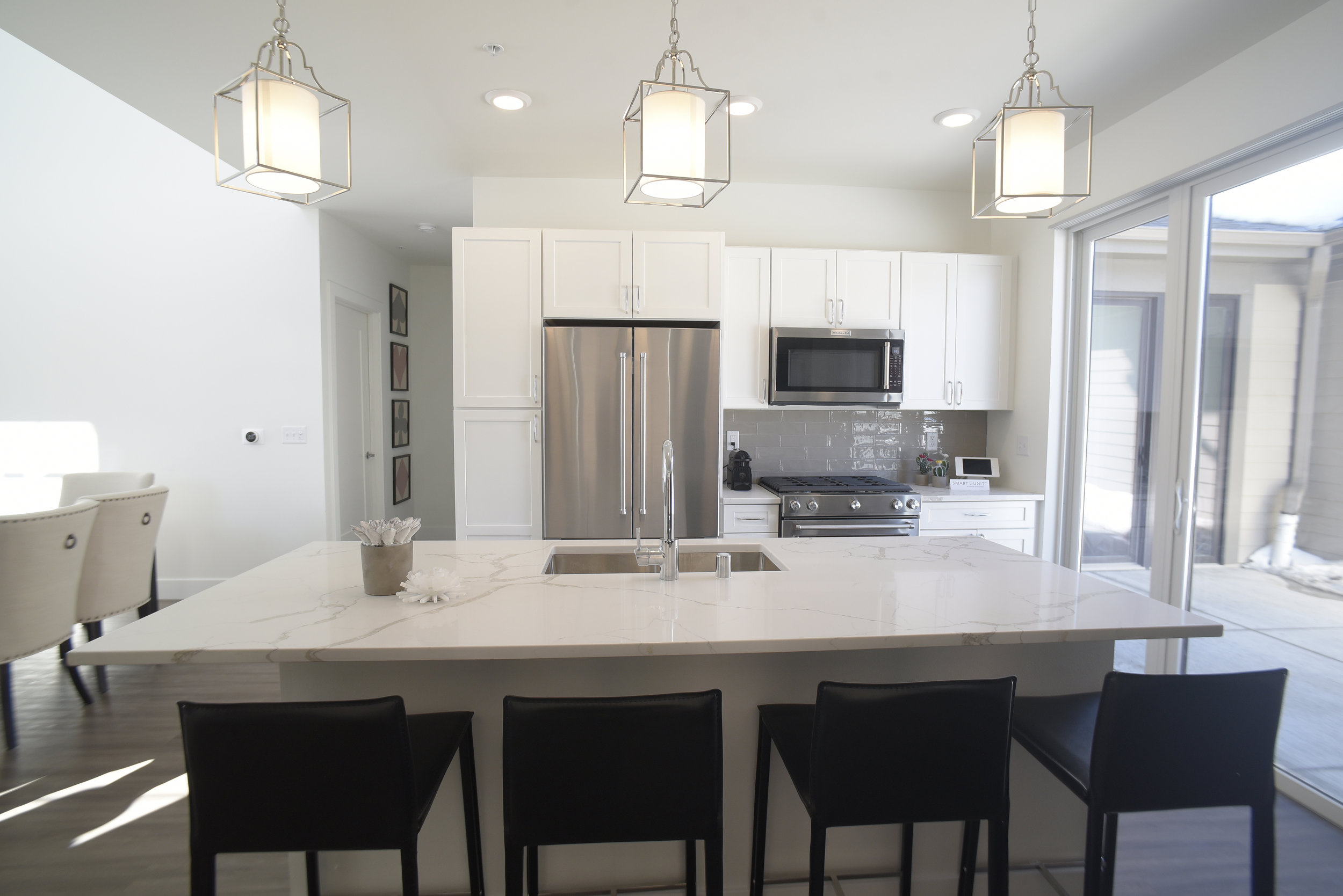 The kitchens in the Spur 16 townhomes feature top-of-the-line appliances and other amenities.    Submitted photo