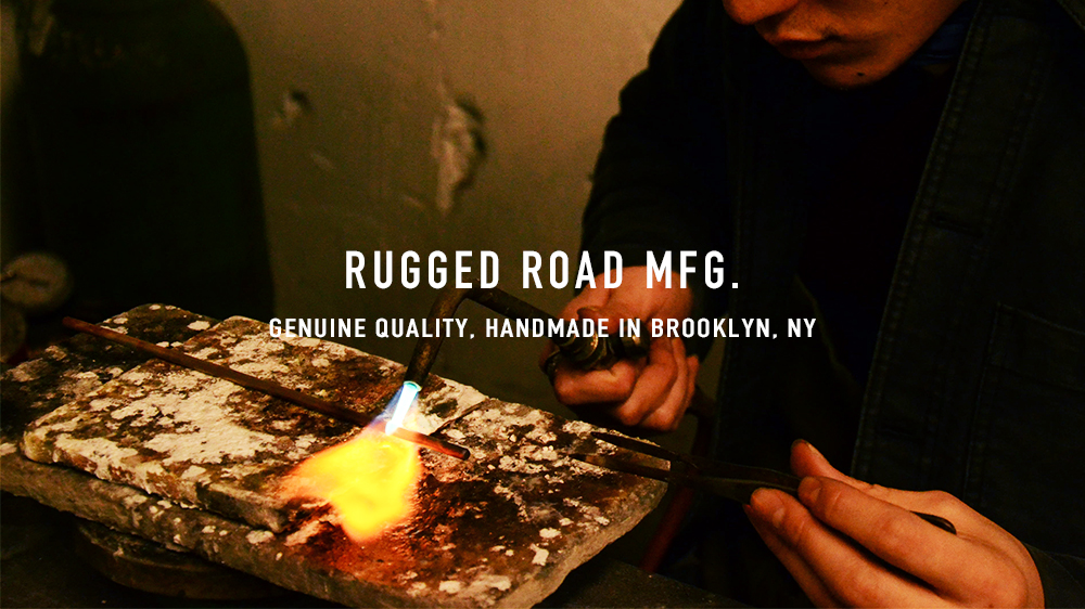 RUGGED ROAD MFG   HANDMADE IN BROOKLYN   check here