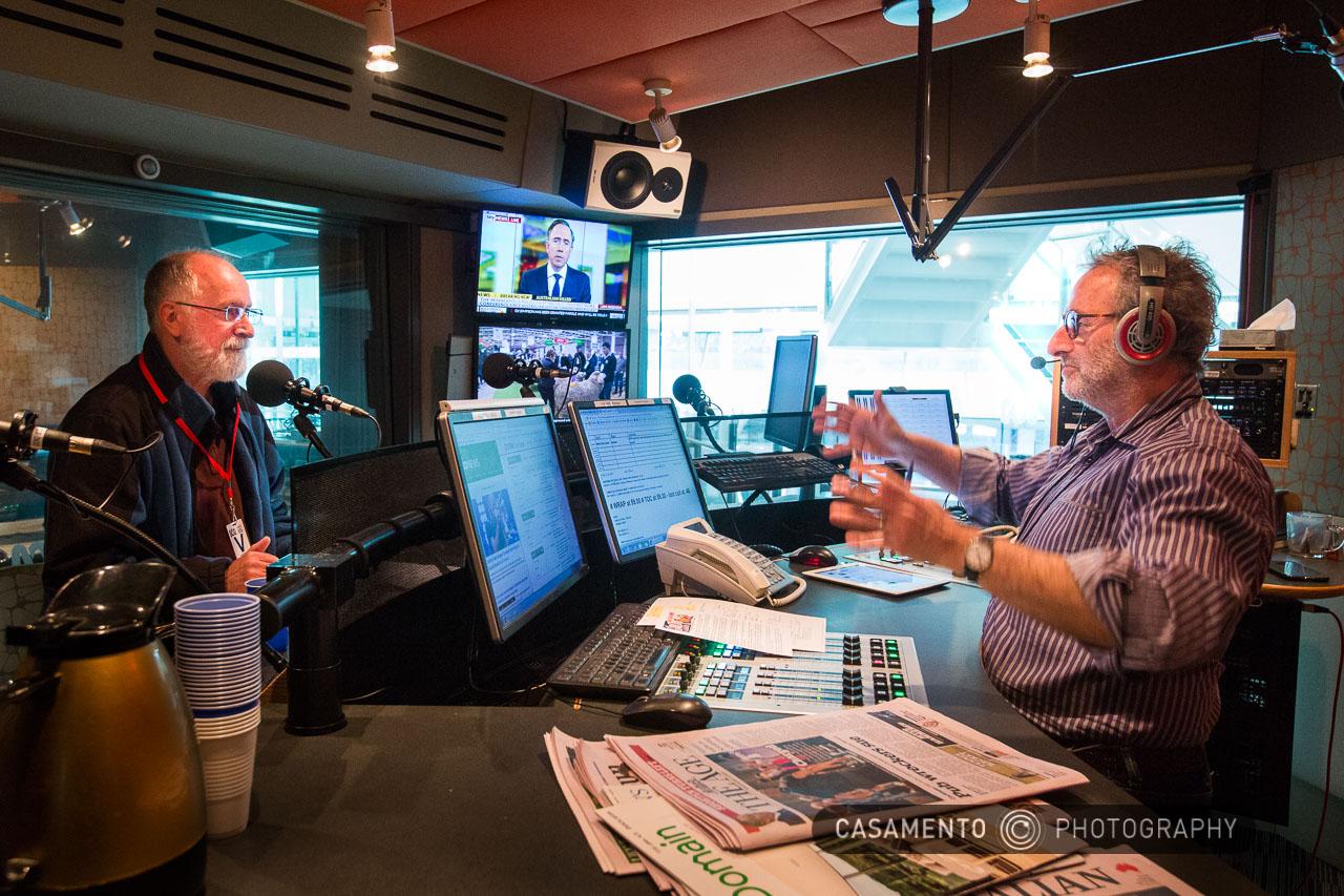 ABC Melbourne's Jon Faine interviewing Peter Gray from Wantirna Residential Caravan Park
