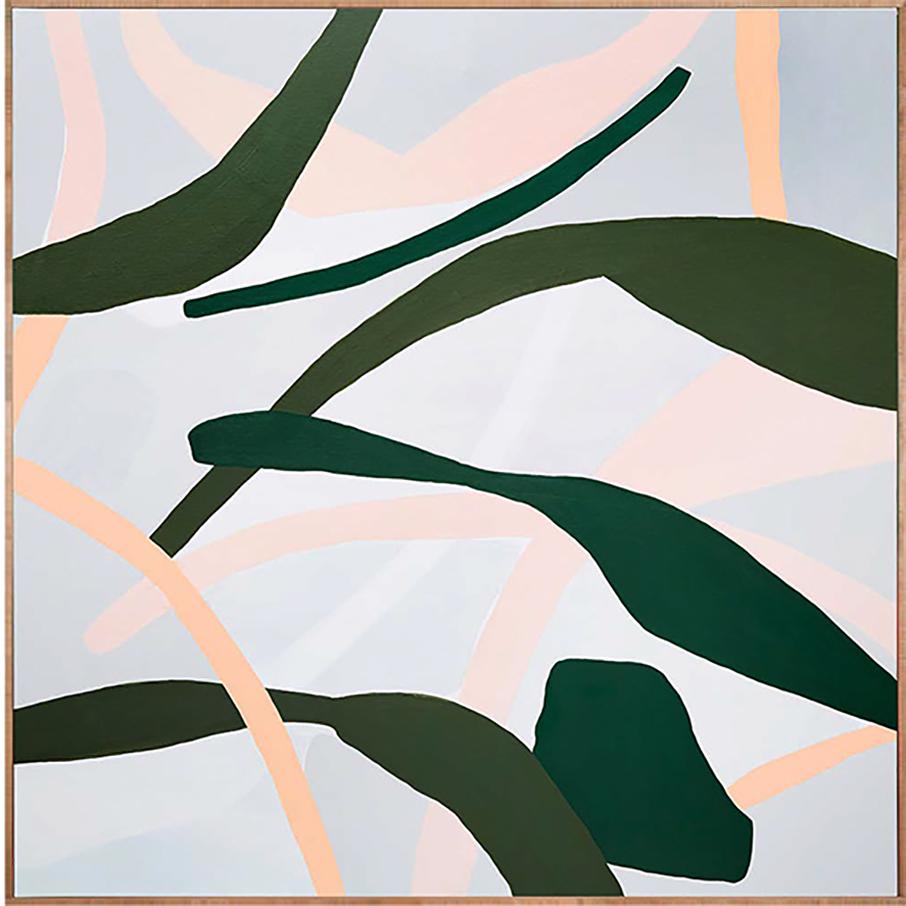 Dancing Leaves   acrylic on linen 90 x 90cm