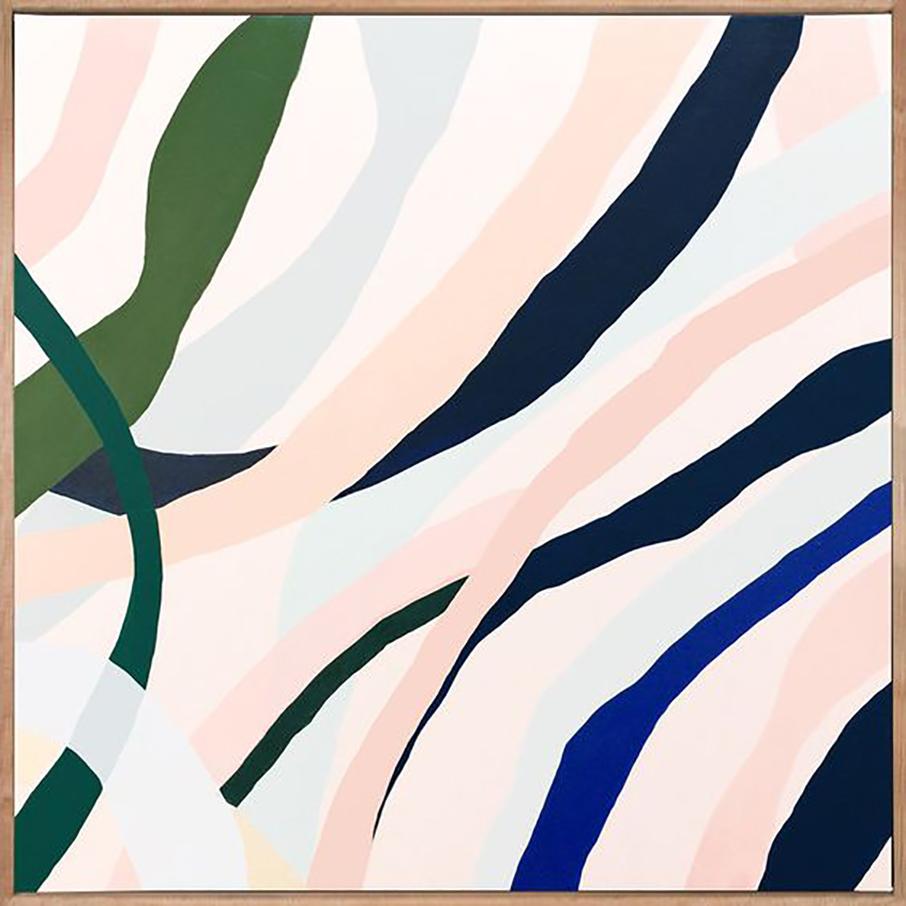 Marco Leaves 4  acrylic on linen 60 x 60cm