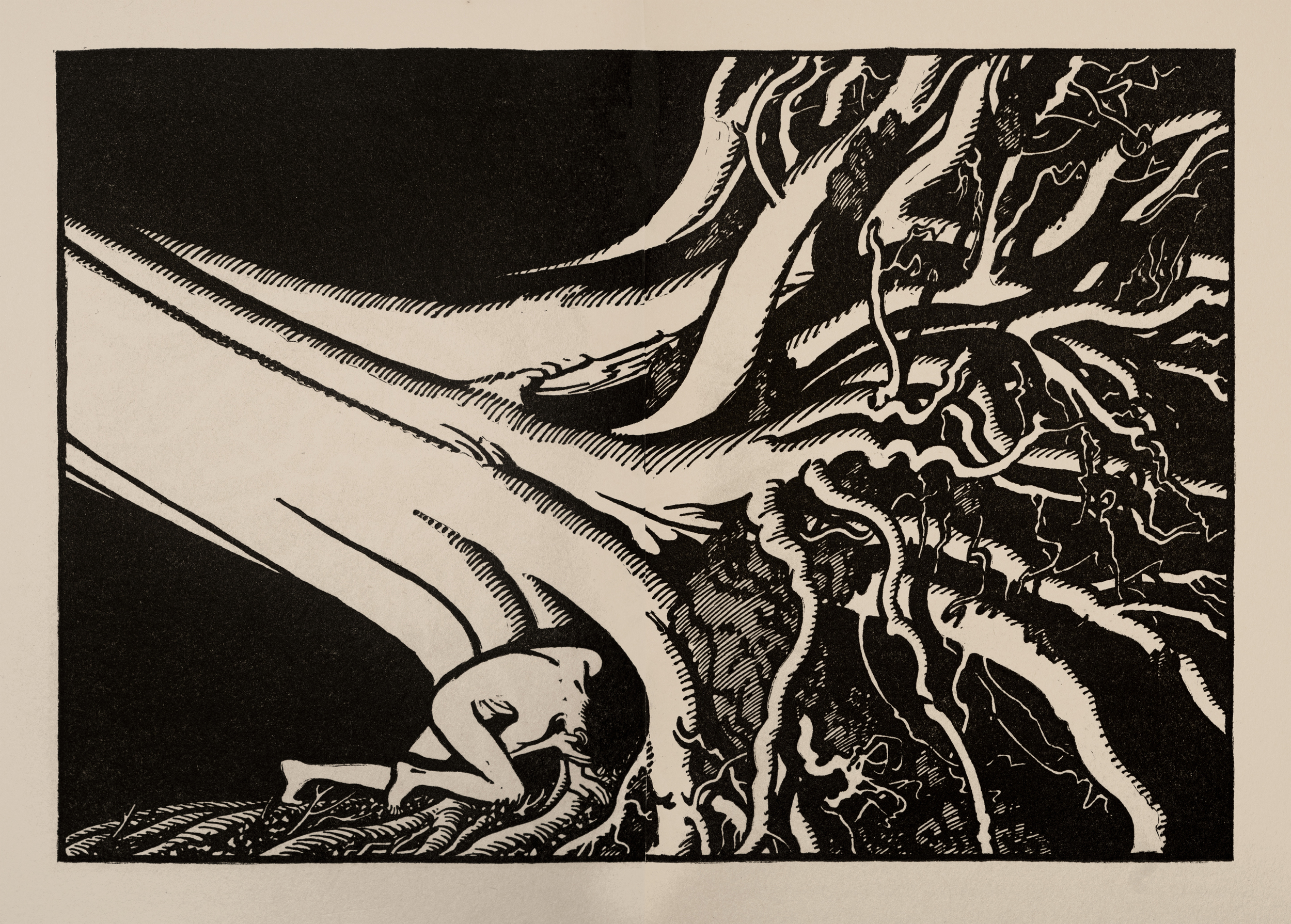 Illustration for Green Mansions by Keith Henderson - c.1930
