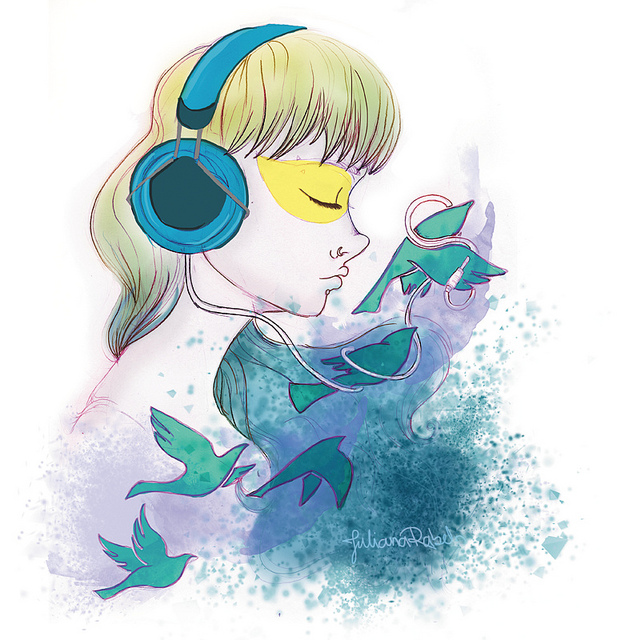 Juliana Rabelo  Listening to music  'let the birds carry you away' Flickr