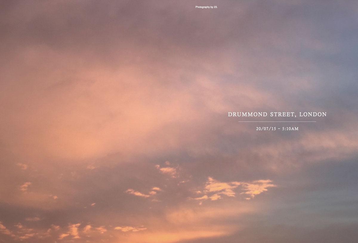 The sky above Astanga Yoga London