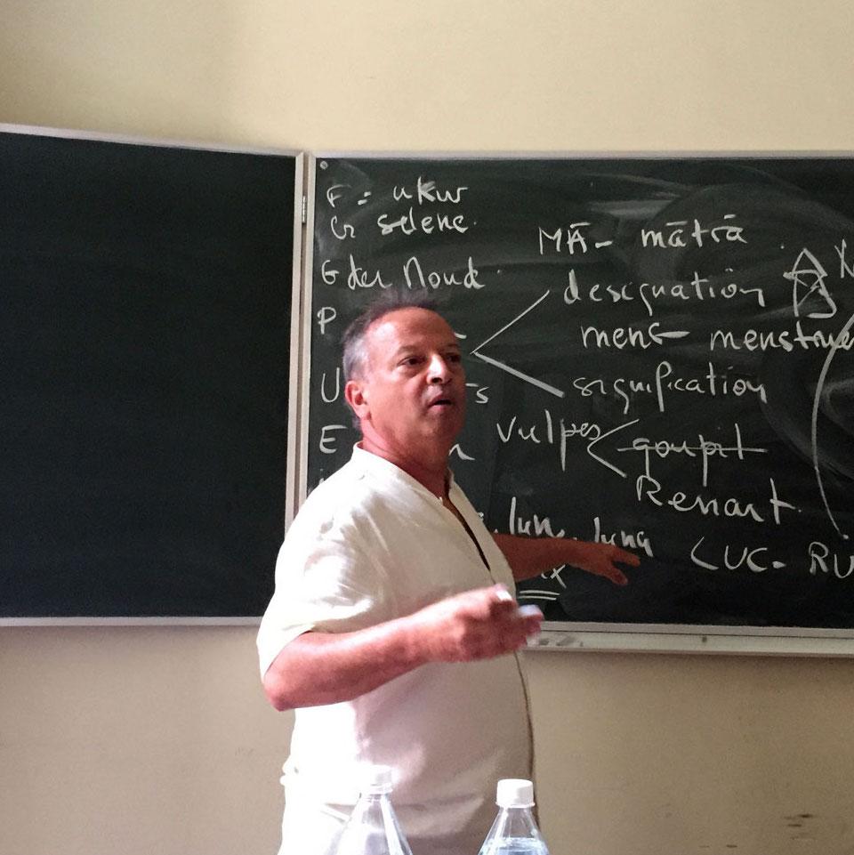 Michel Angot in class
