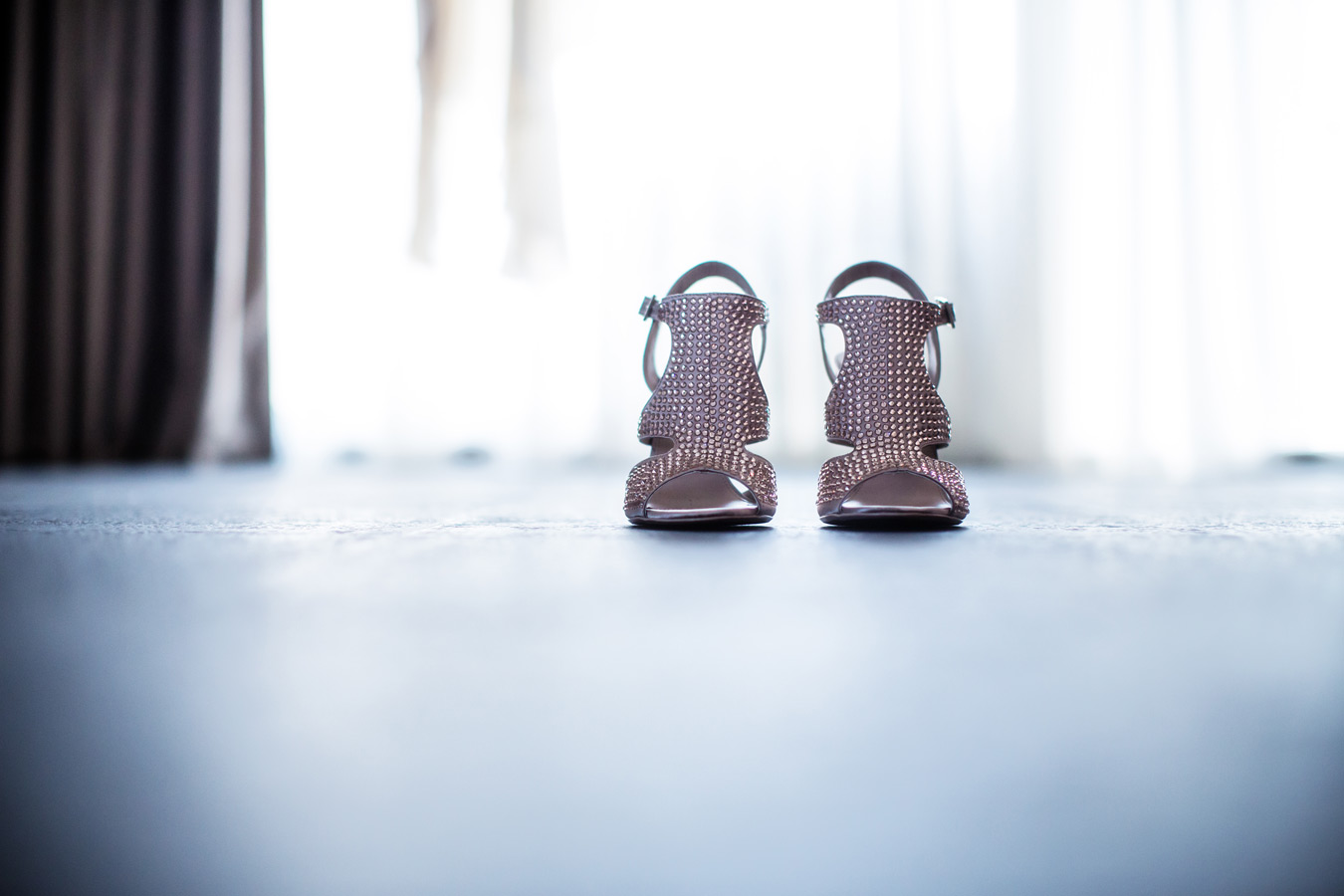 One of a set of images taken at Vanessa and Thor's destination Wedding in the beautiful Porto Montenegro. Brides's Wedding shoes.  Wedding Photography By Matt Porteous