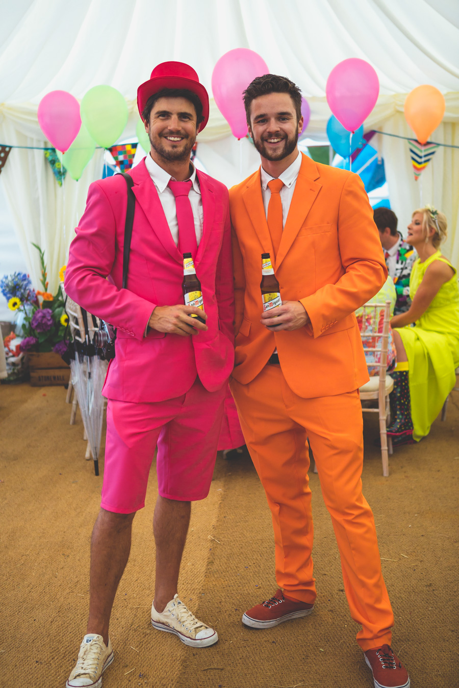 One of a set of images taken at this Destination Wedding of Jo and Steve, Jersey The Channel islands. Wedding photographers dressed in Opposuits. Wedding Photography By Matt Porteous & Max Burnett.