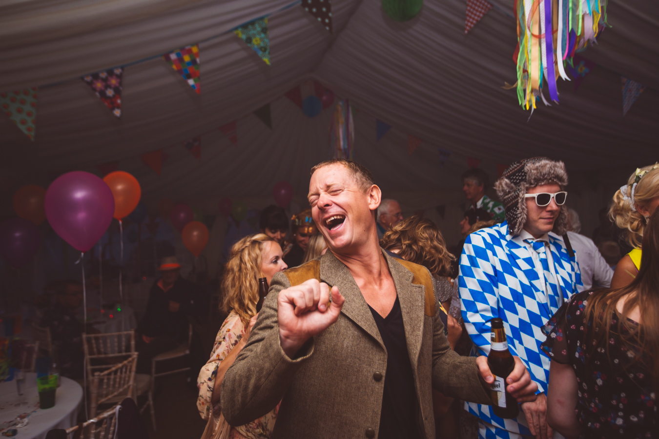 One of a set of images taken at this Destination Wedding of Jo and Steve, Jersey The Channel islands. Dancing the night away. Wedding Photography By Matt Porteous & Max Burnett.