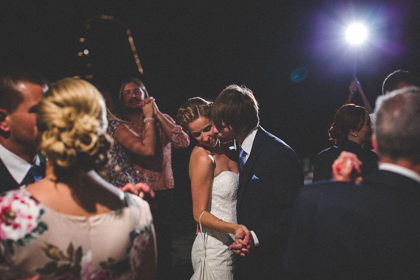 One of a set of images taken at this chic destination Wedding of Jenna & Nick. The stylish old town of Dubrovnik, Croatia.  The couple's first dance.  Photography by Matt Porteous.