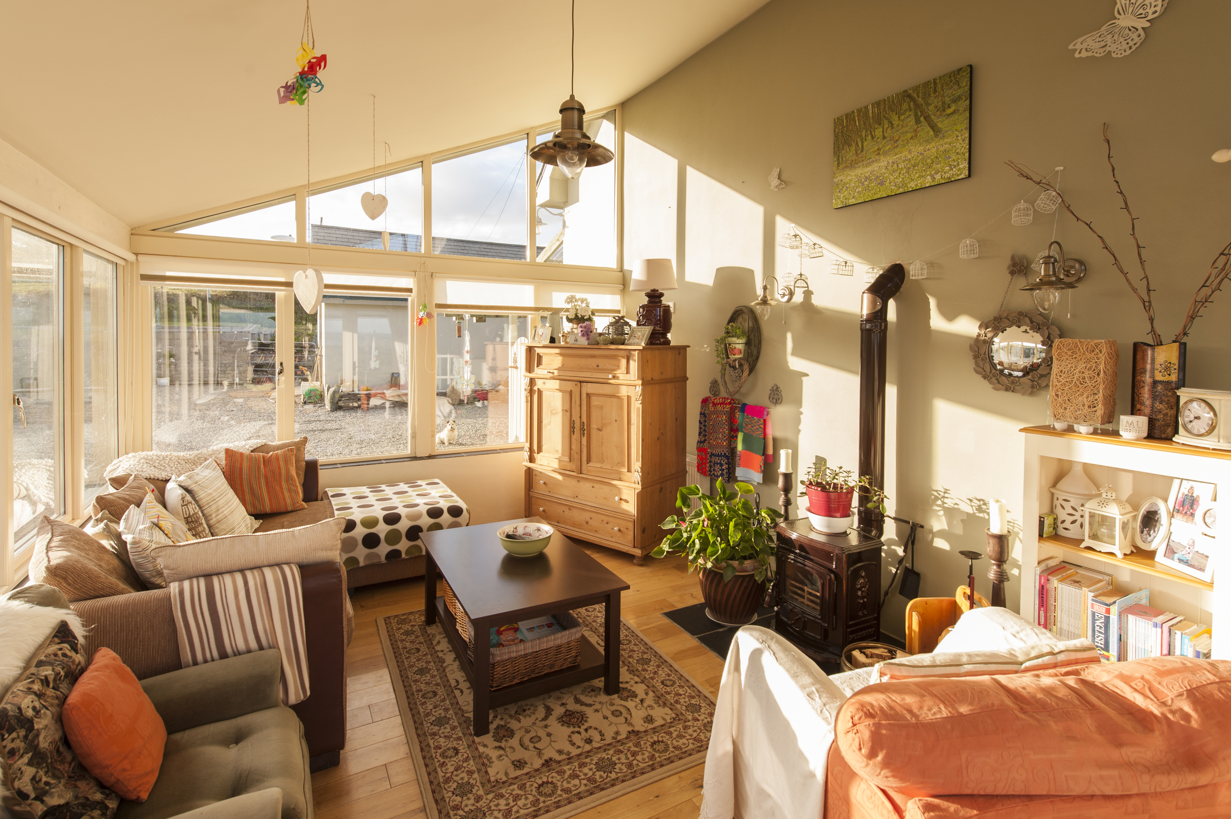 The sun room lives up to its name.
