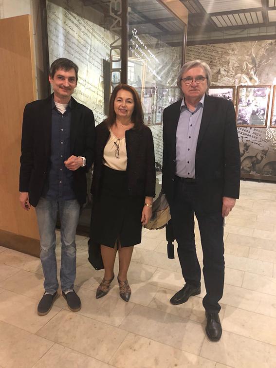 Виктория Радишевская с Сергеем Кладо и Александром Никитиным