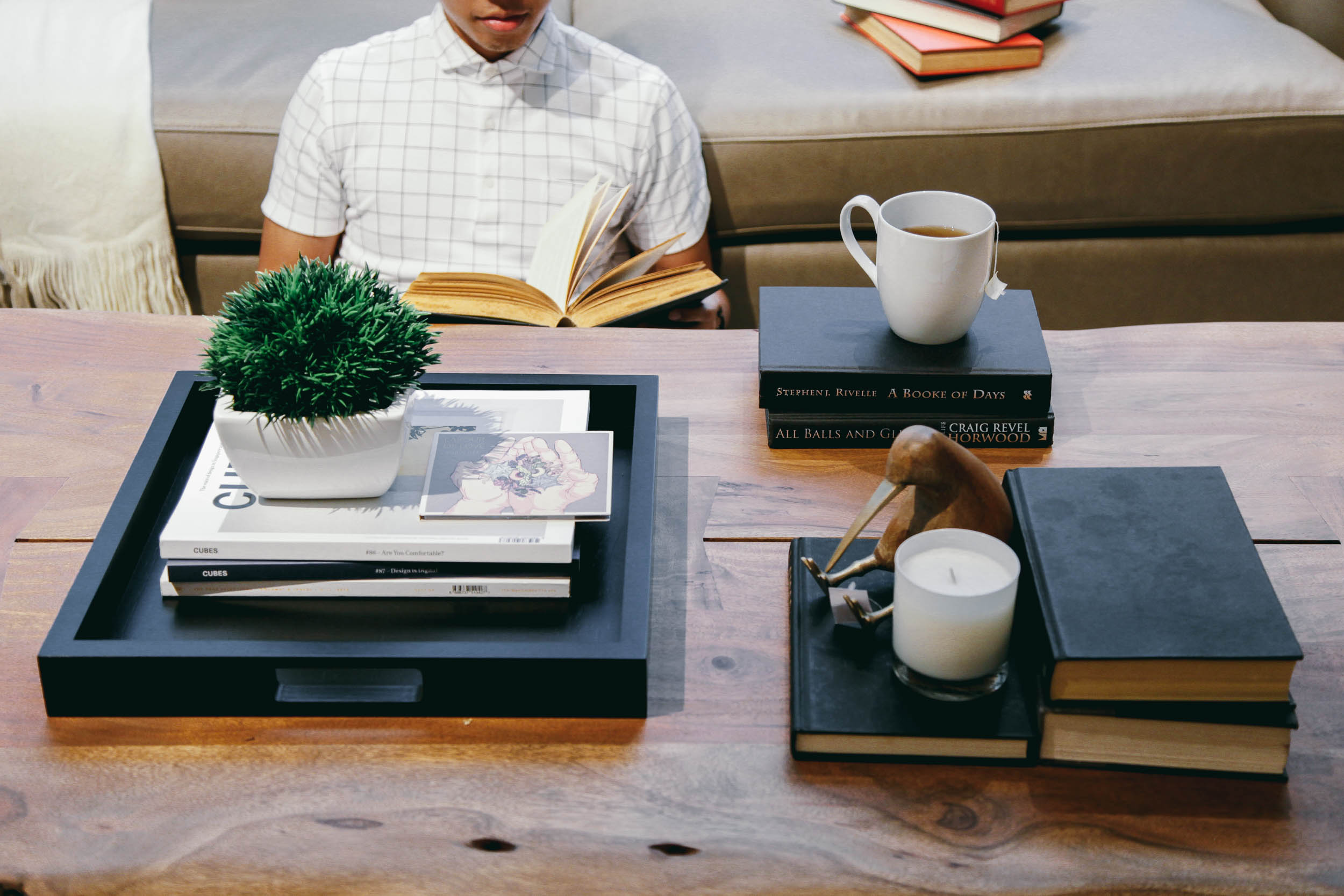 You are your Coffee Table - This oft-used idiom reminds one not to judge a something (or someone) by its outward appearance alone. However, a book's cover serves an important task – to convey the vibe of its contents to whoever picks it up to peruse.