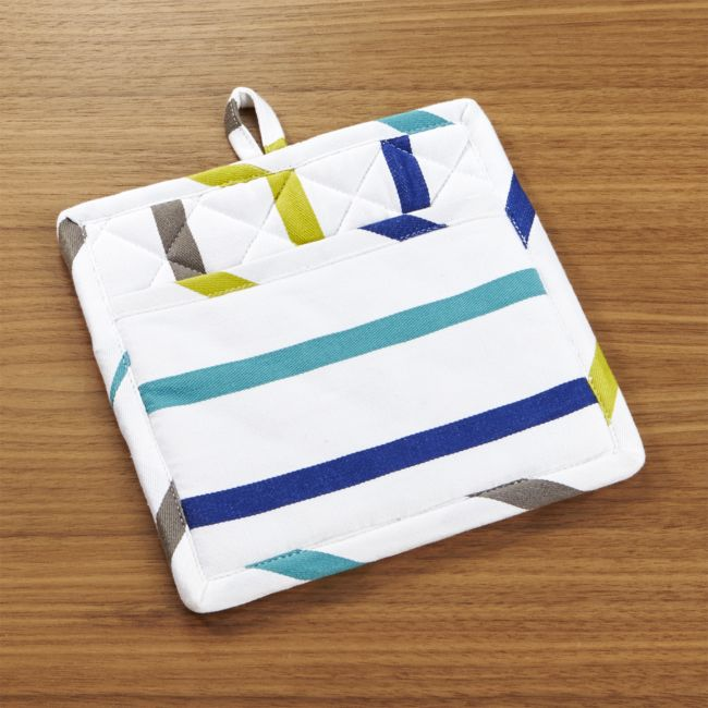 Coastal Stripe Potholder - Reg $16.95 Sale $5.50