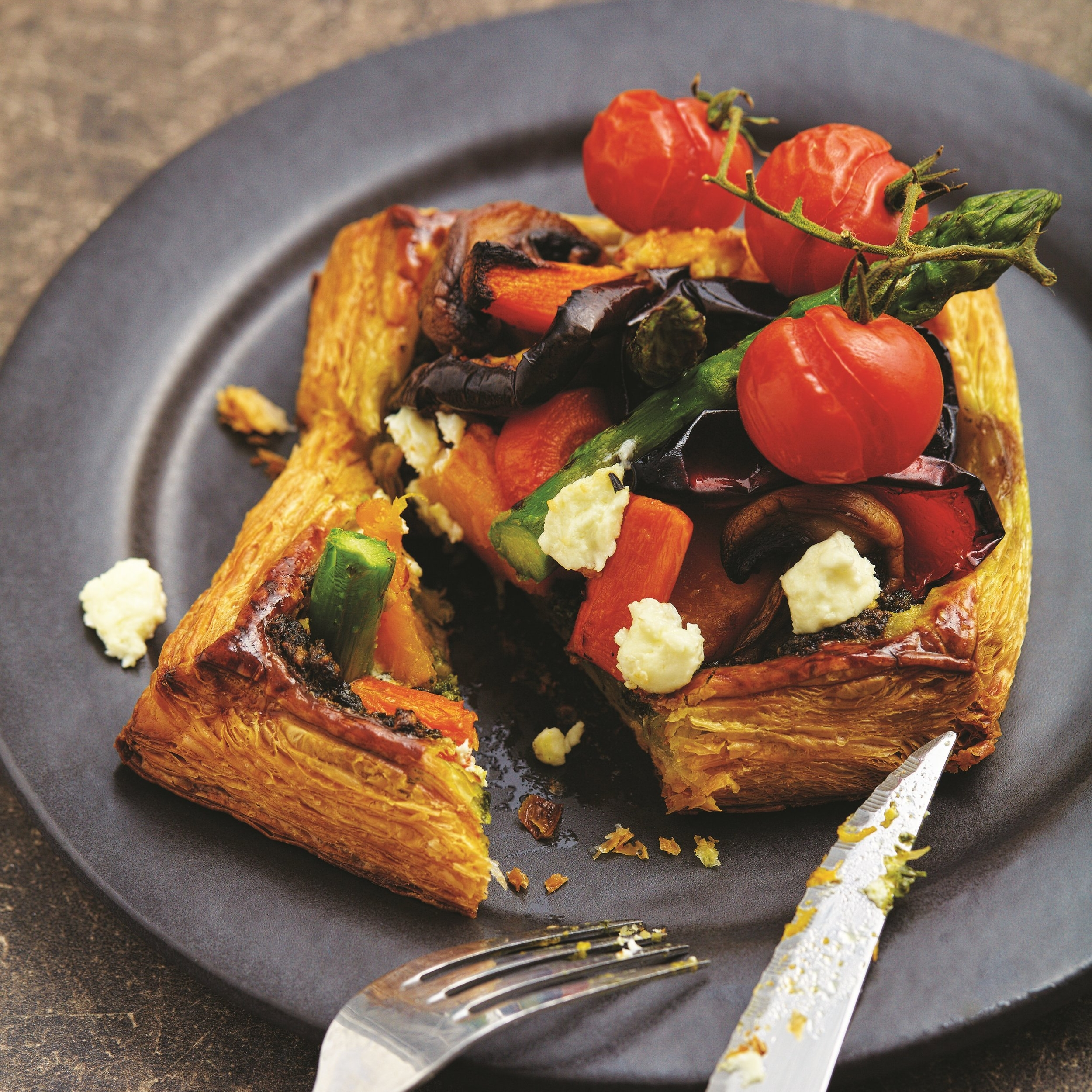 Oven Roasted Vegetables Tarts Recipe. - This Holiday, skip the crowd and take the chance to busk in the comforts of your homes with this recipe by Dean Brettschneider of Baker & Cook.
