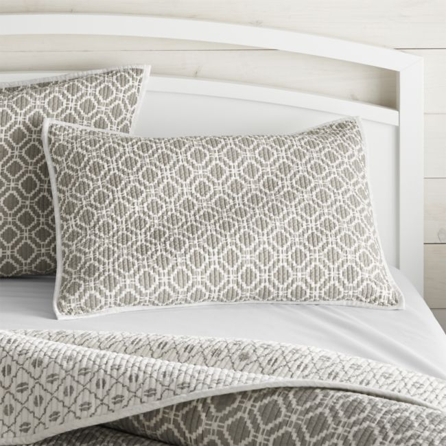 Raj Reversible Grey Std Sham - Reg $54.95 Sale $27.50