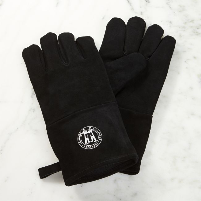S/2 Schmidt Brothers Leather Grill Gloves - Reg $54.95 Sale $27.50