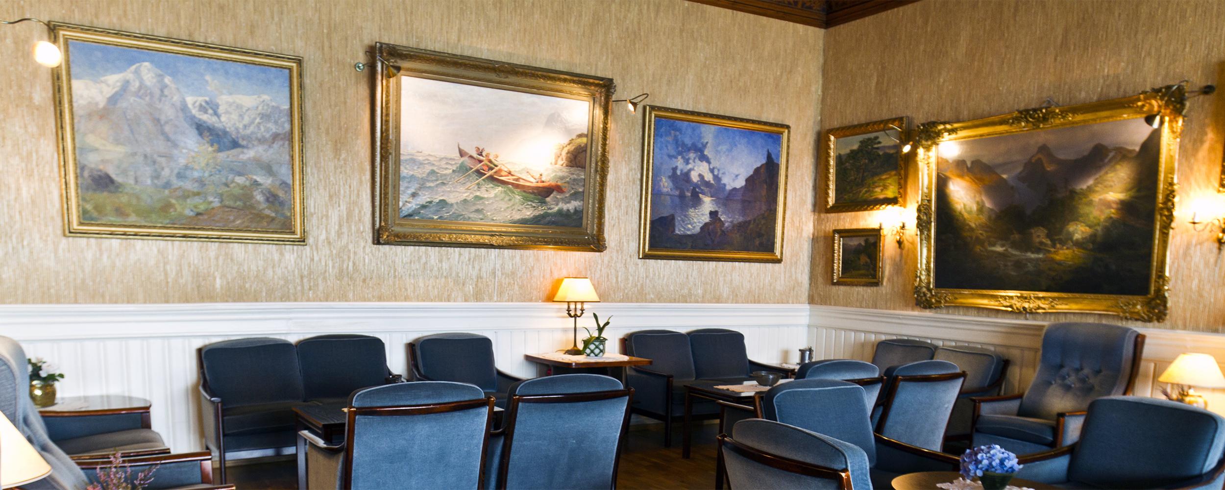 Velkommen til ei hyggeleg kunstoppleving på Kviknes Hotel!